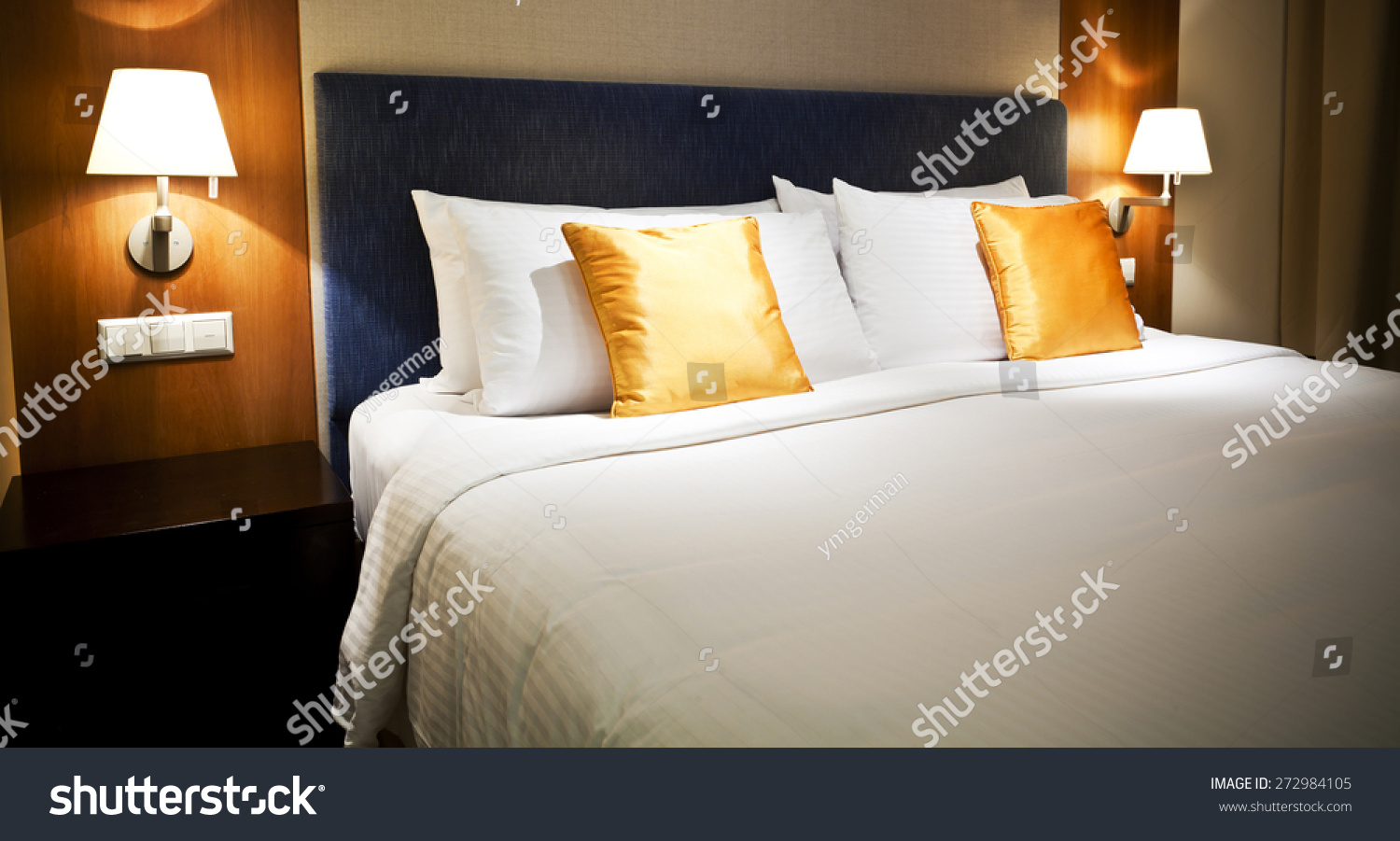 View Modern Luxury Hotel Room Stock Photo (Edit Now) 272984105 ... c24678d22