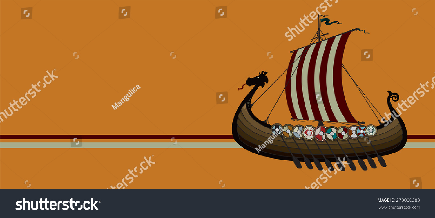 Viking Ship Vector Illustration Stock Vector 273000383 ...