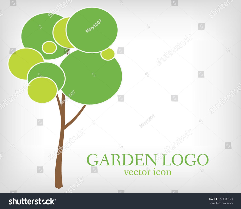 Garden Stock Image Image Of Design: Green Tree Garden Logo Template Ecology Stock Vector