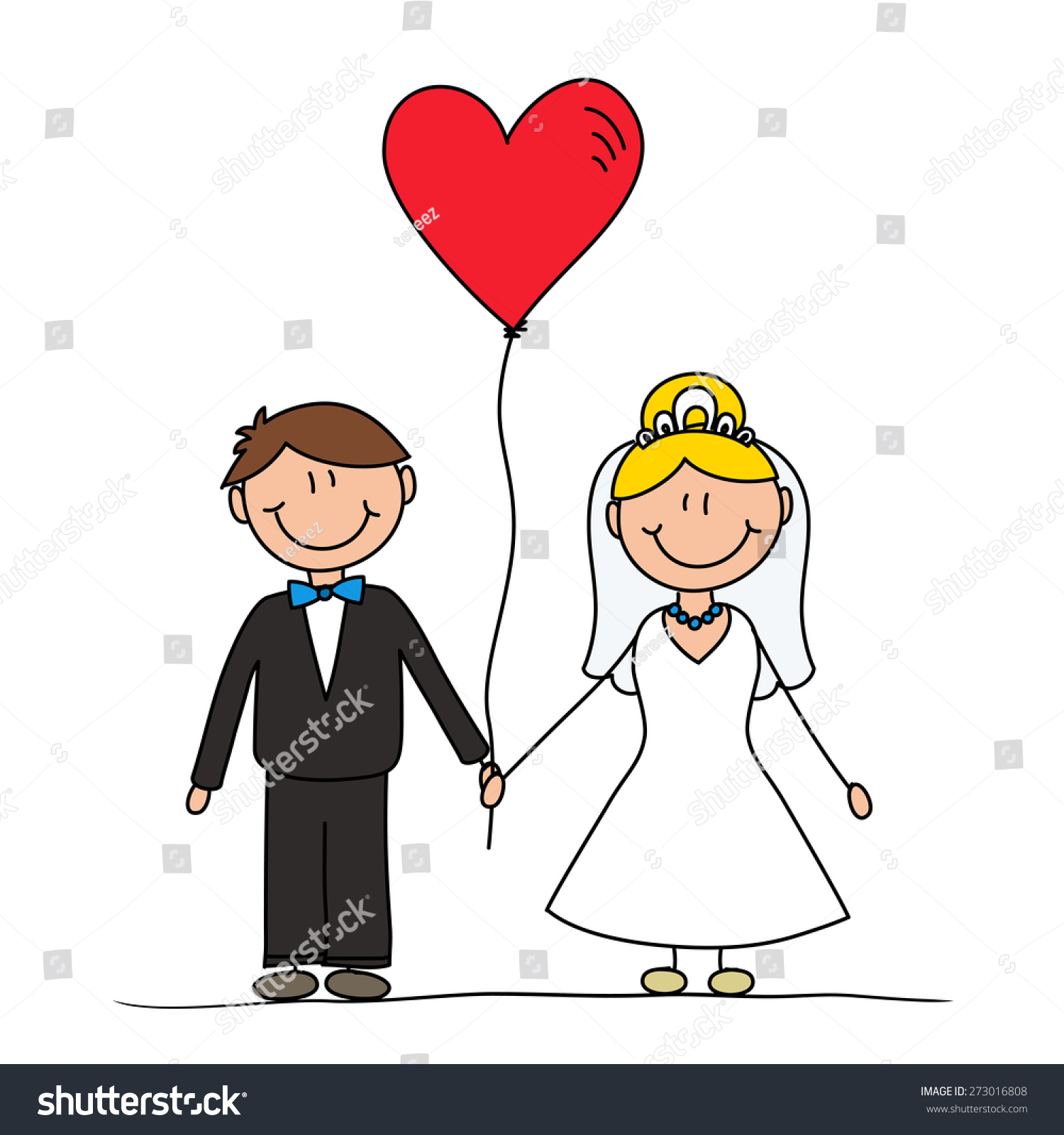 Cute Cartoon Couple Drawing Vector Characters Stock Illustration