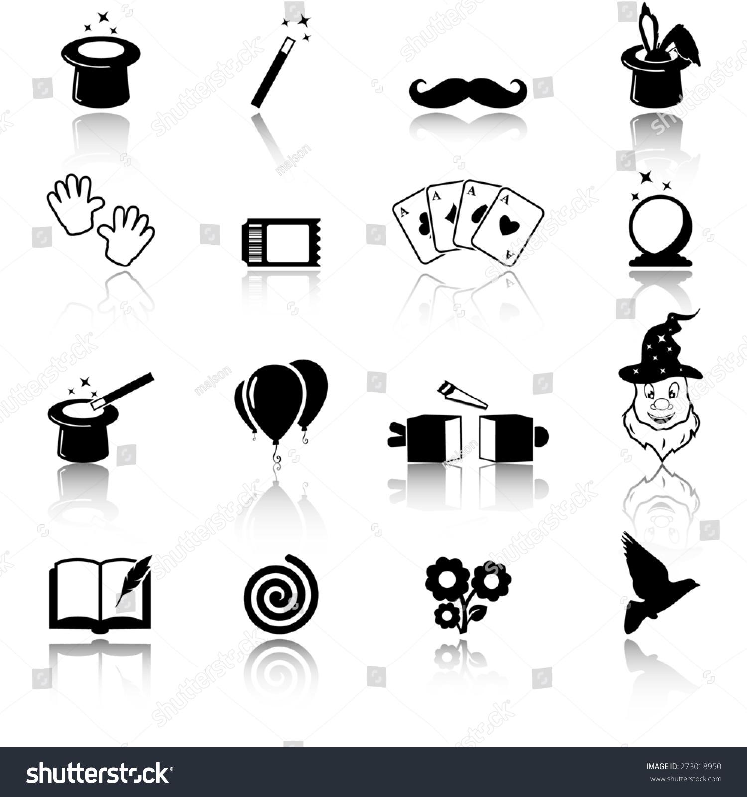 Magic Icon Set Stock Vector Illustration 273018950 ...