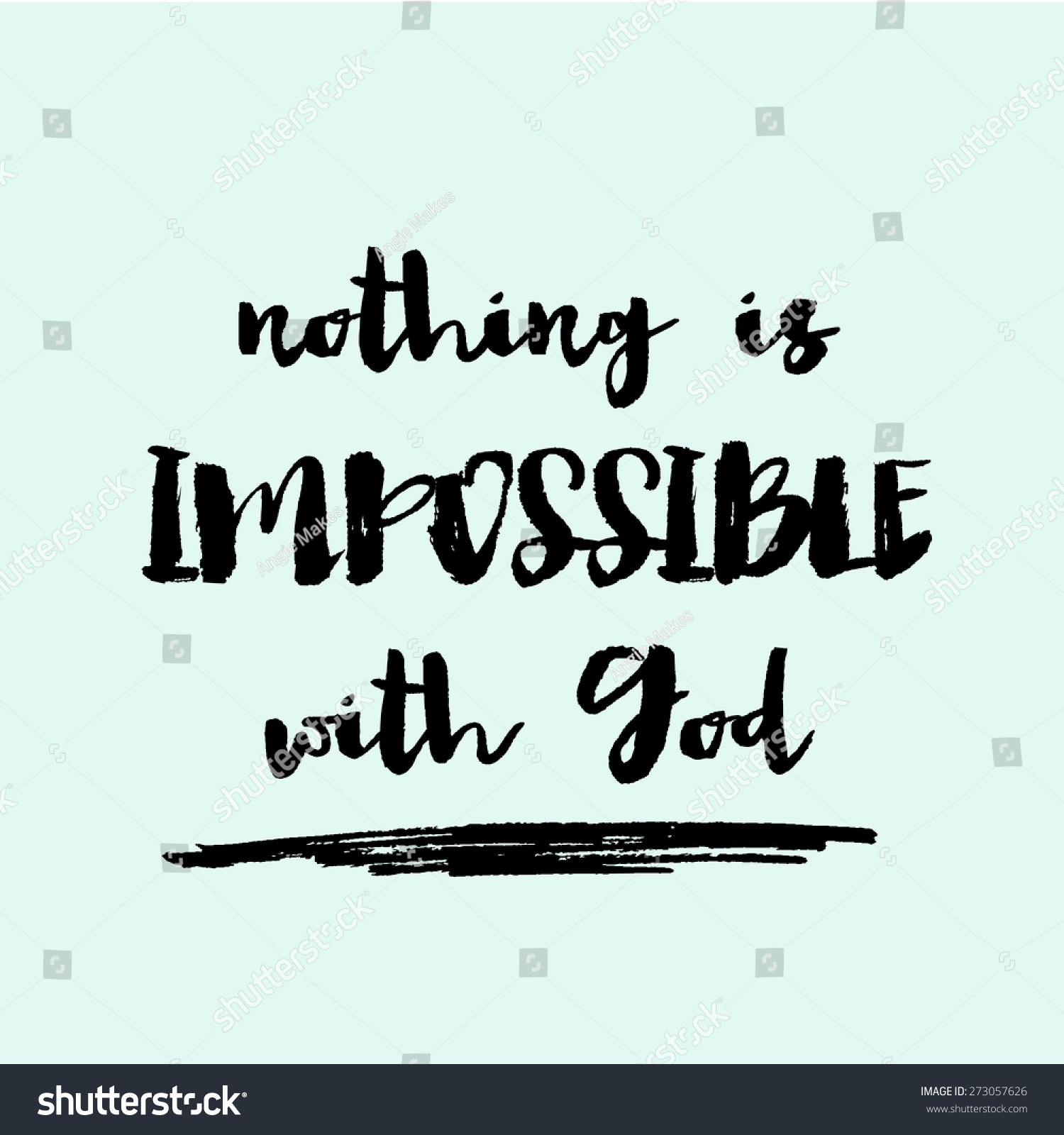 Nothing impossible god background modern hand stock