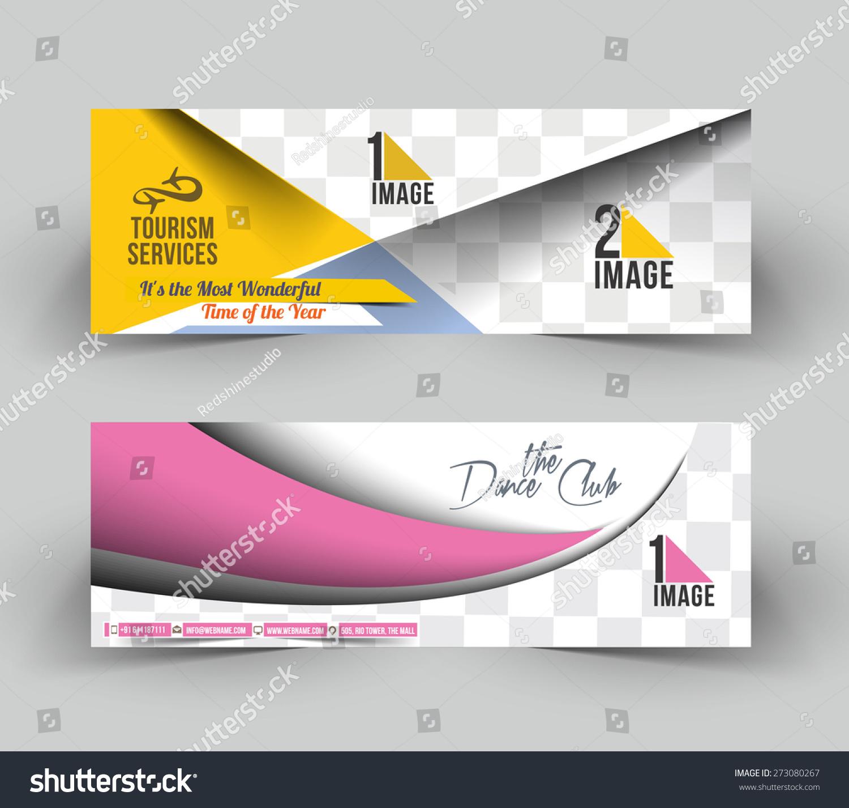 Web Banner Header Layout Template Designweb Stock Vector 273080267 ...