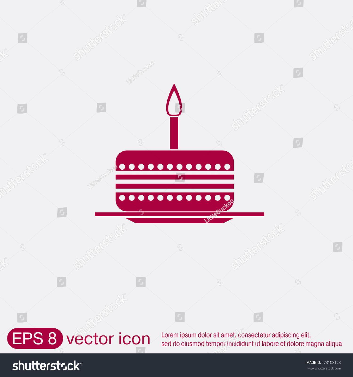 Birthday cake icon symbol cake celebrating stock vector 273108173 birthday cake icon symbol of cake celebrating the birthday of the loaf biocorpaavc
