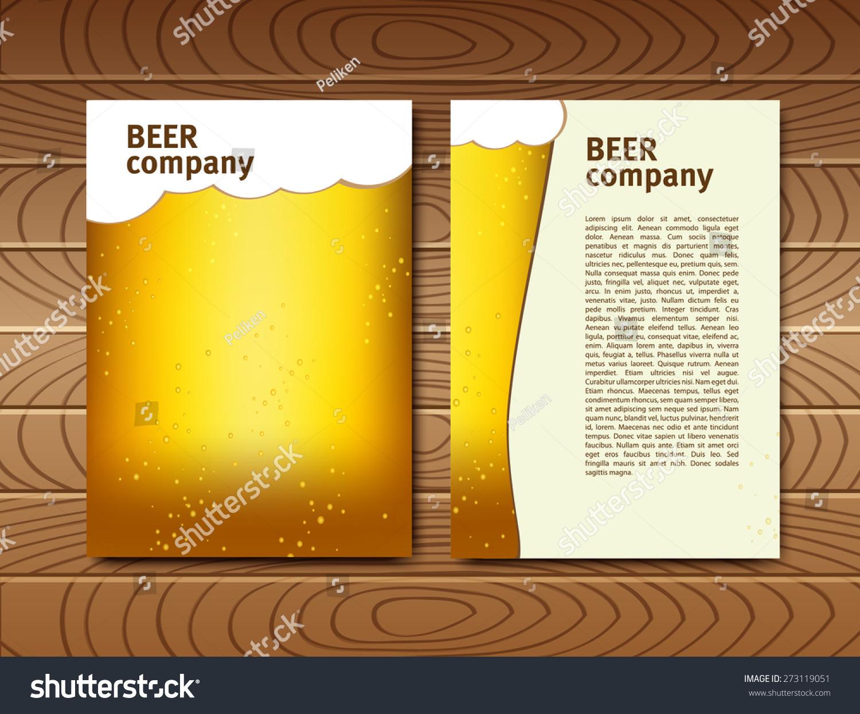 Beer Card Blank Menu Splash
