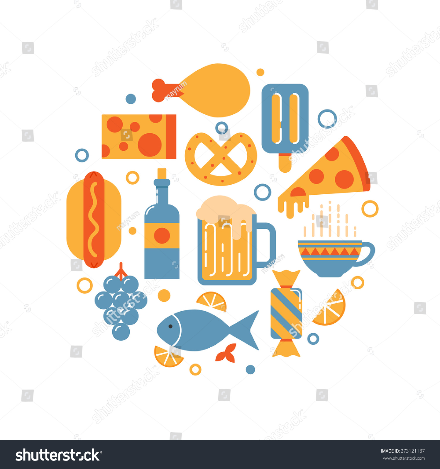 food drink abstract vector illustration stock vector 273121187
