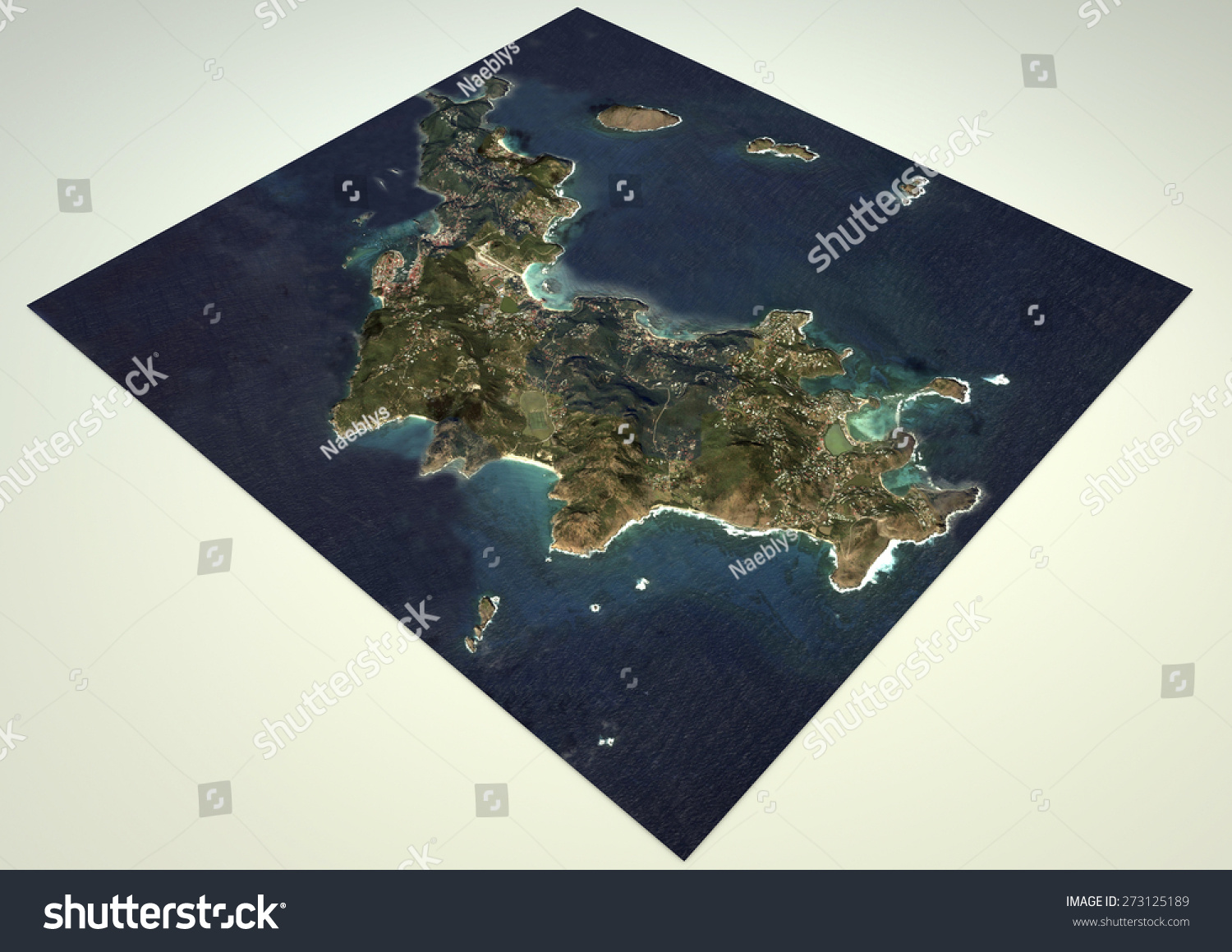 Satellite view saint barthelemy st barth stock illustration satellite view saint barthelemy st barth map section 3d element of this publicscrutiny Choice Image