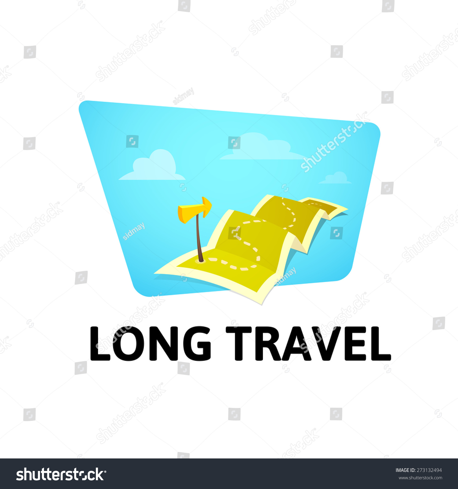 World Tour Concept Logo Isolated On Vector 273132494 – Travel Marker Map
