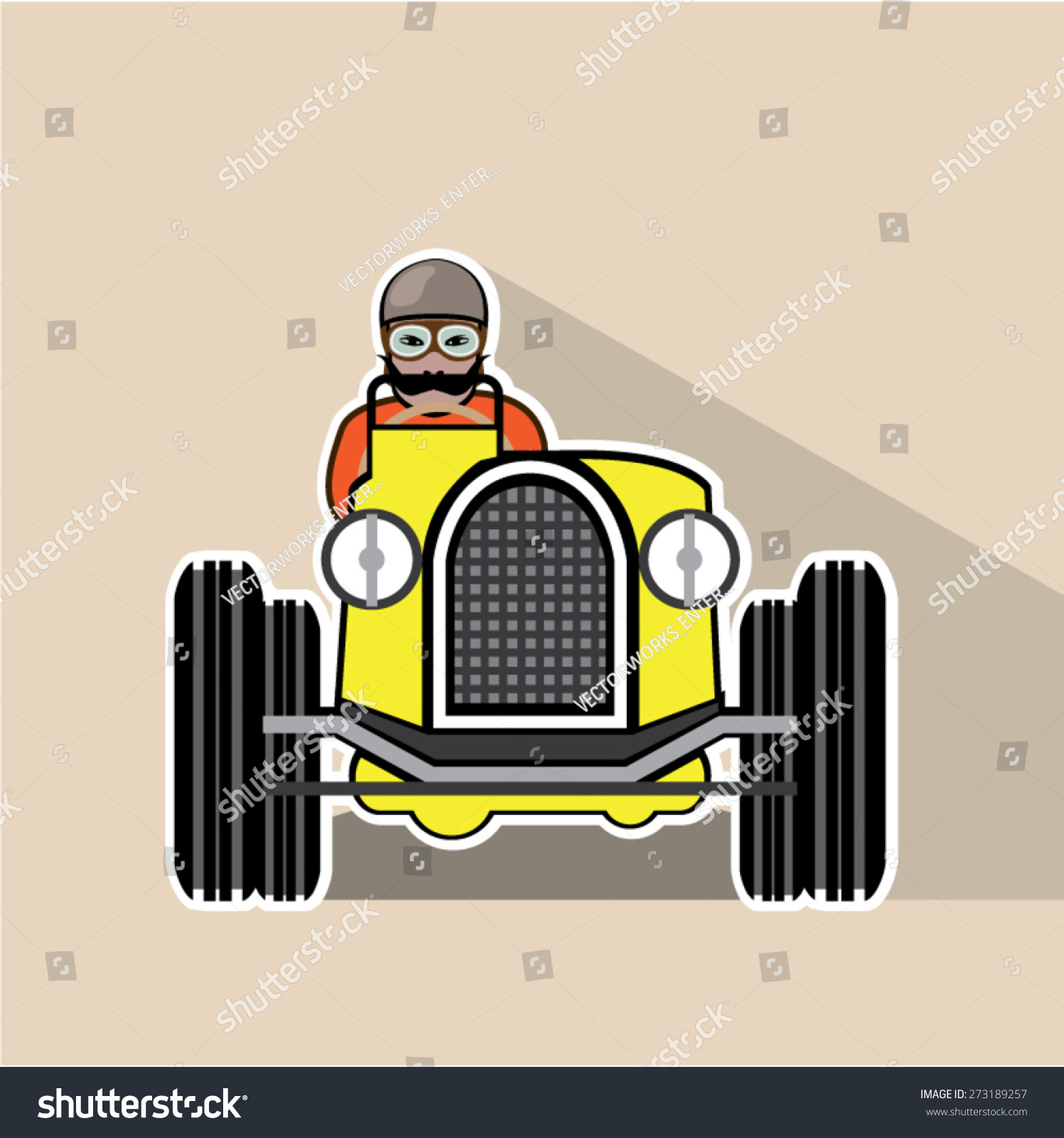 Vintage Race Car Driver Stock Vector Royalty Free 273189257
