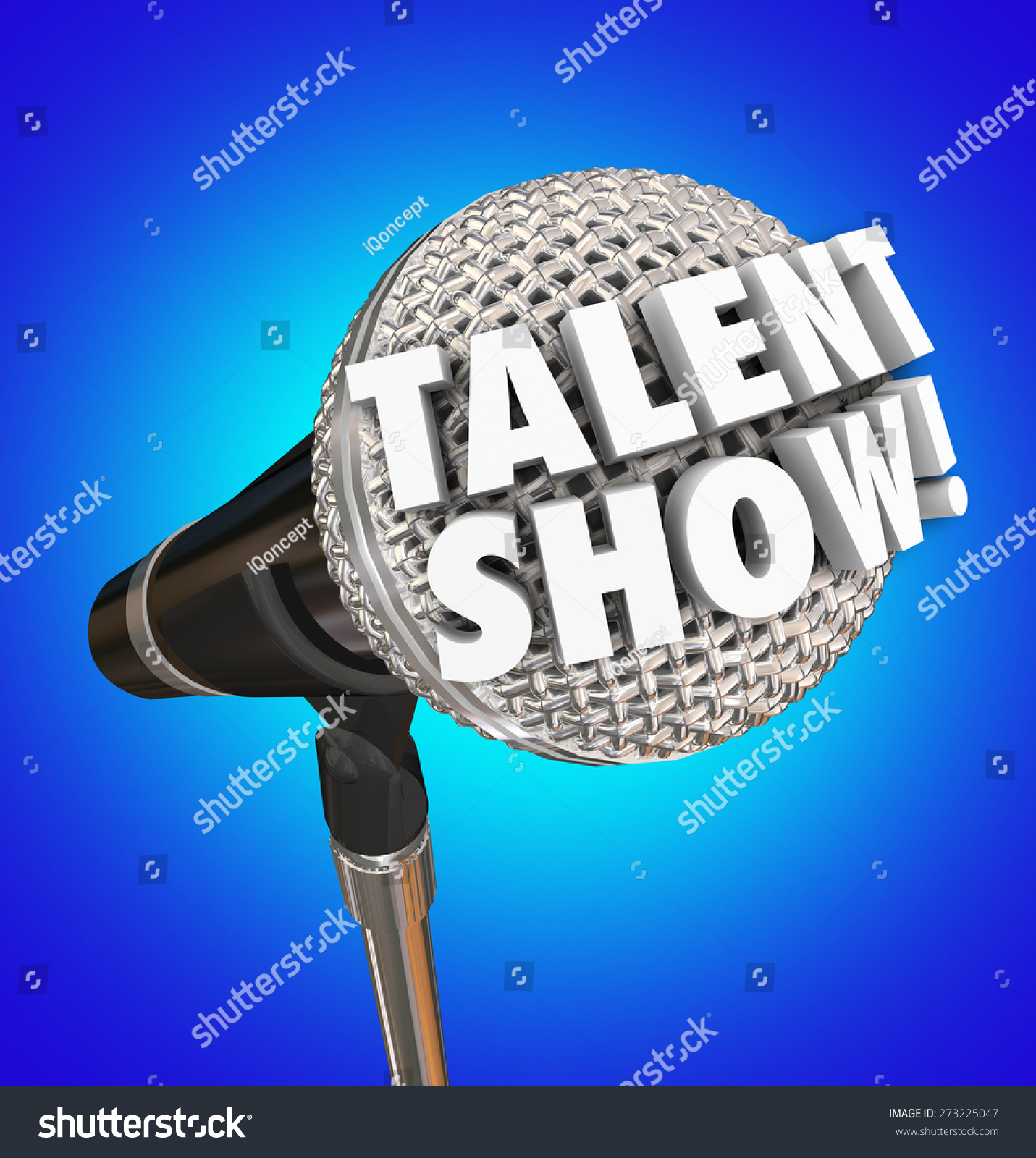 talent show words 3d letters on stock illustration