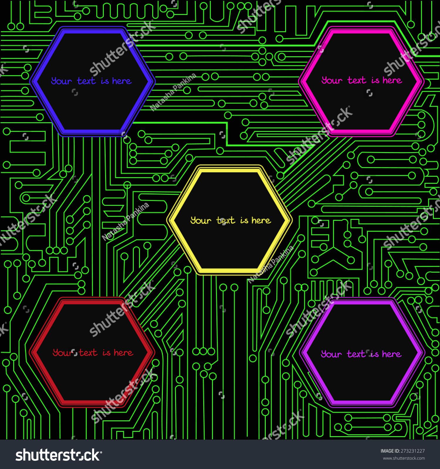 Diagram Stylized Printed Circuit Board Stock Illustration 273231227 ...