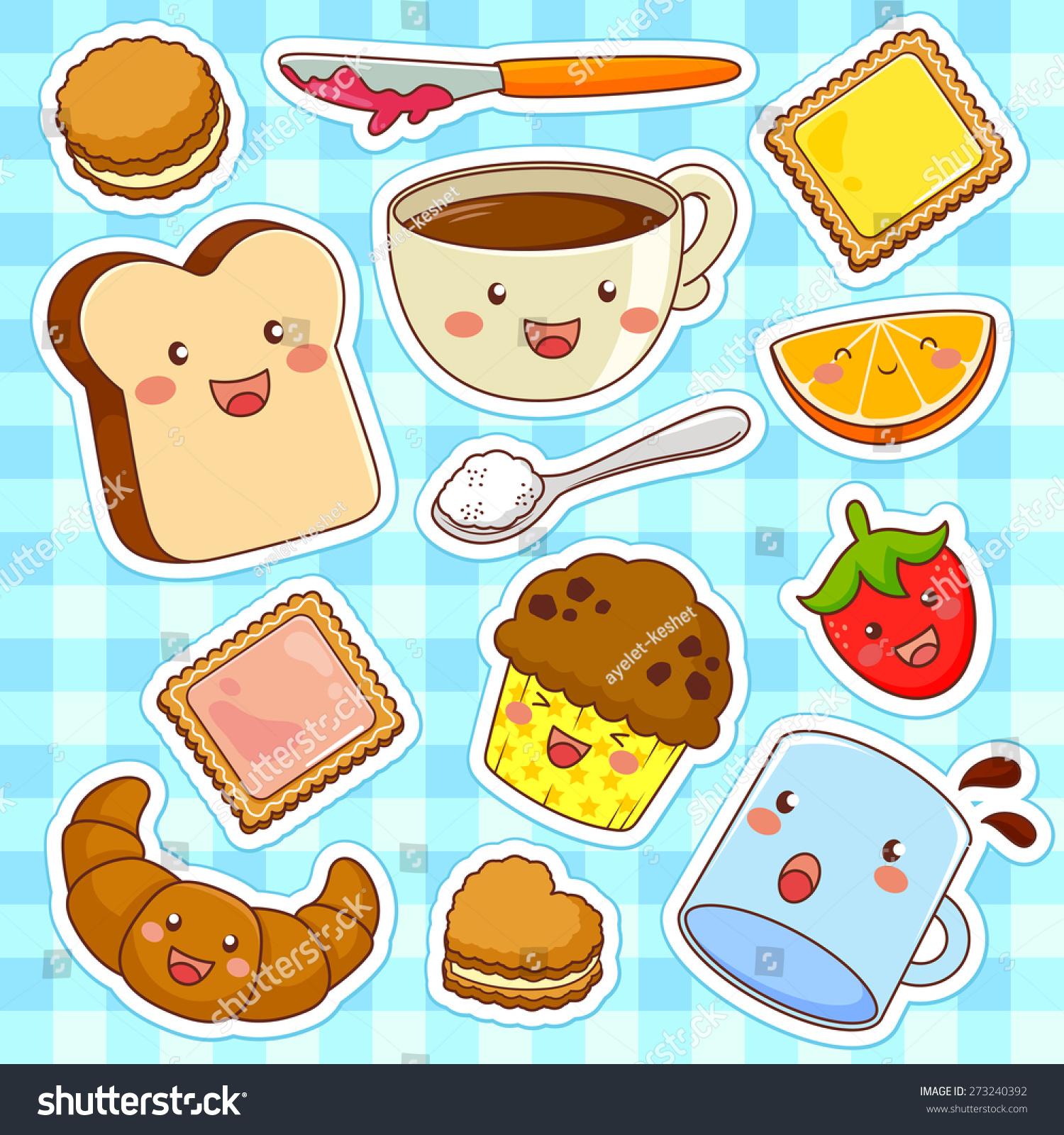 Uncategorized Cute Kawaii Food cute kawaii style cartoon foods stock vector 273240392 shutterstock foods