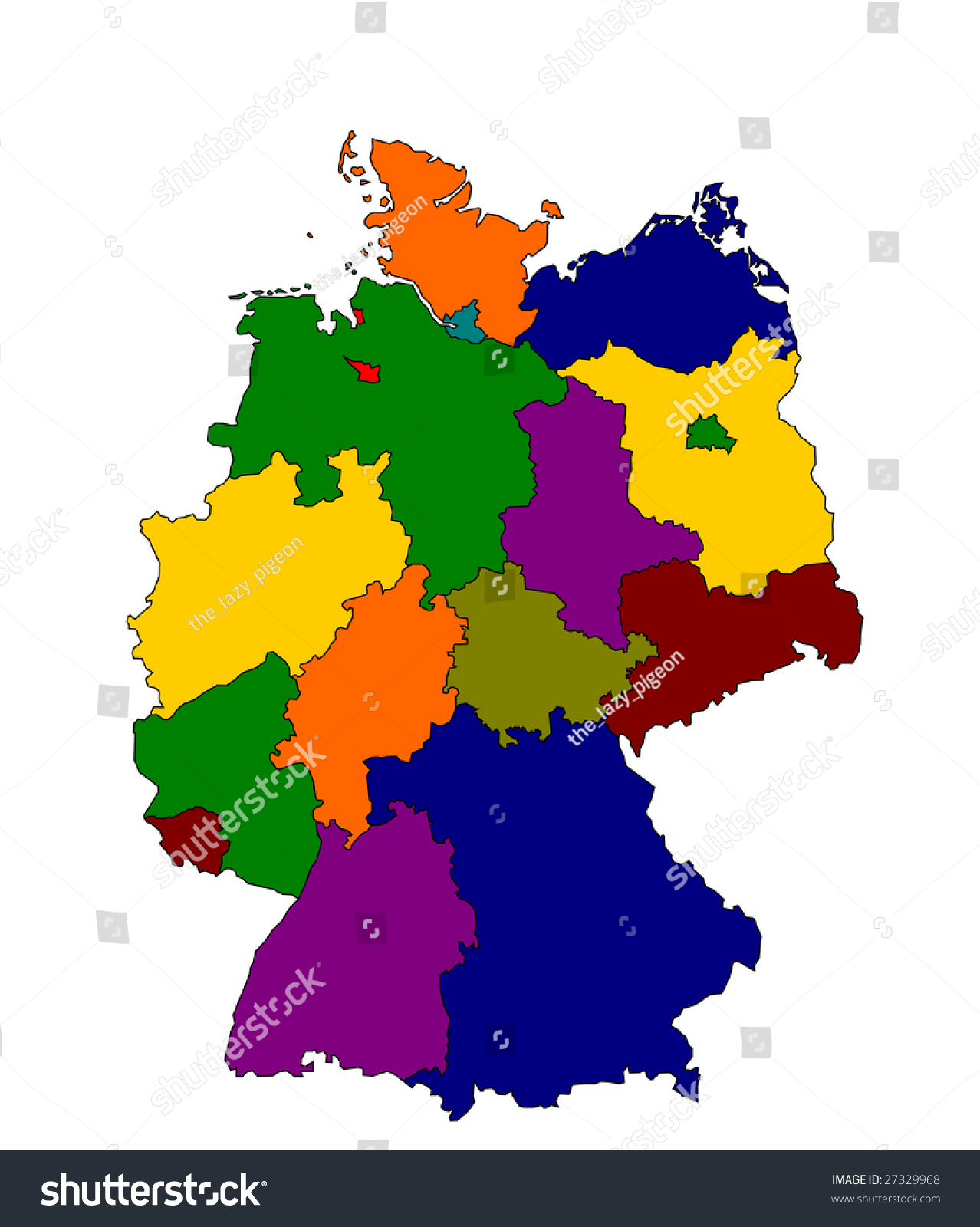 Royalty Free Stock Illustration Of Detailed Map Germany Stock