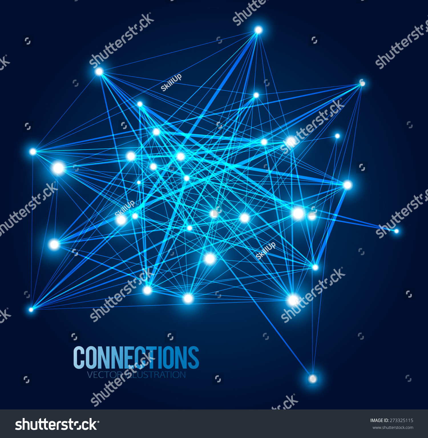 Abstract Background Dots Lines Connection Concept Stock Vector ...