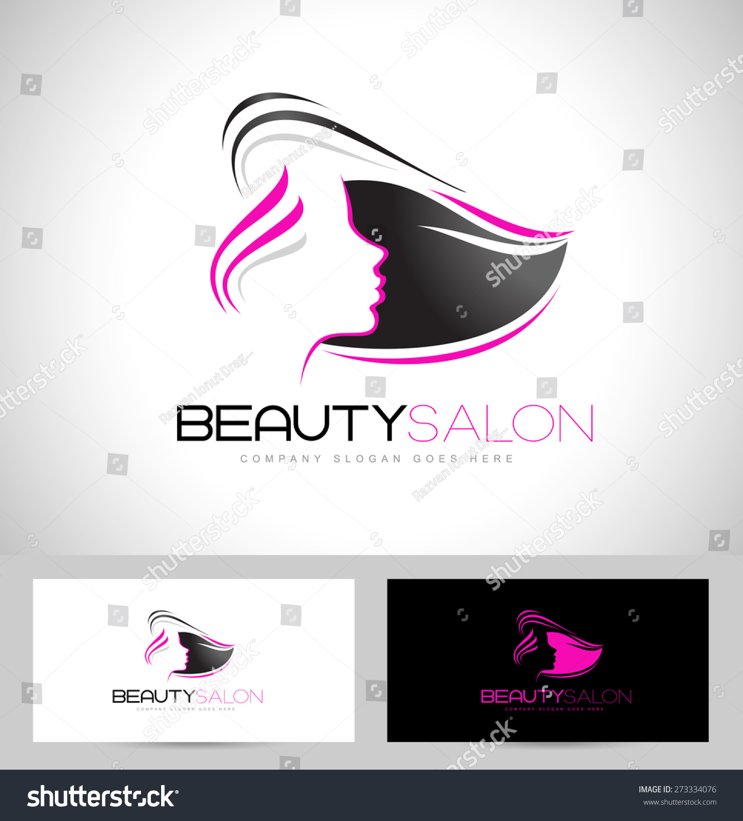 Beauty female face logo designcosmetic salon stock vector for Salon design layout free software