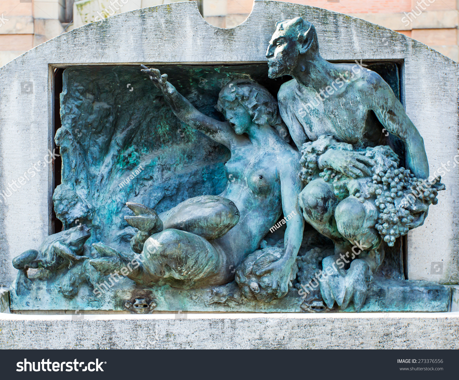 Bologna italy march sculpture stock photo