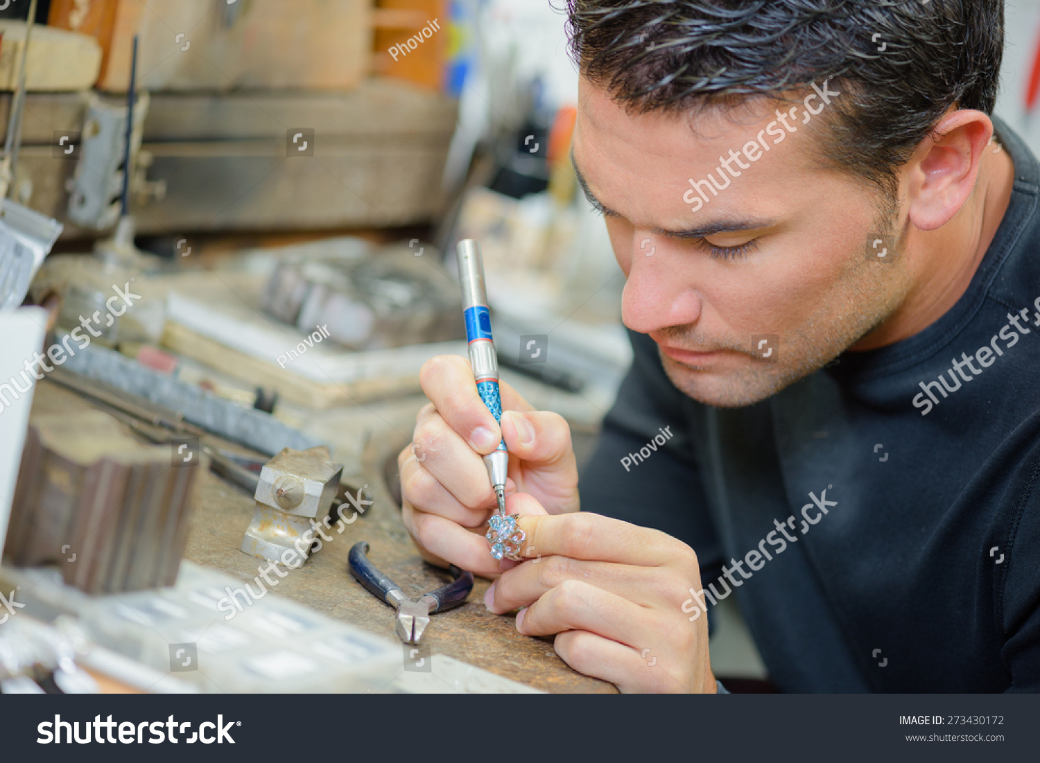 Jeweller Hard Work Stock Photo 273430172 - Shutterstock