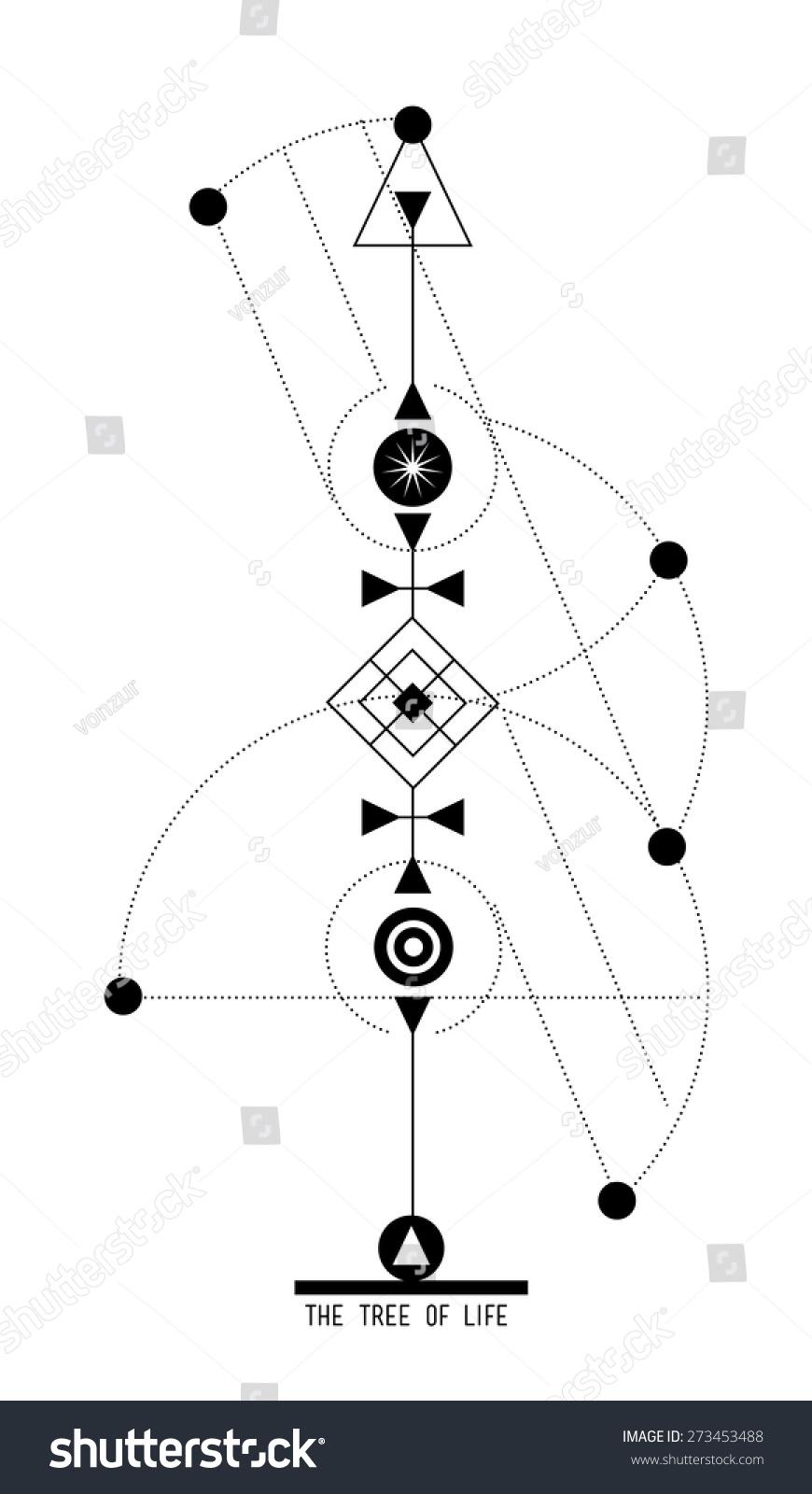 Tree life sigil geometric symbols jewish stock vector 273453488 the tree of life sigil geometric symbols in jewish kabbalah tradition abstract design element biocorpaavc Choice Image