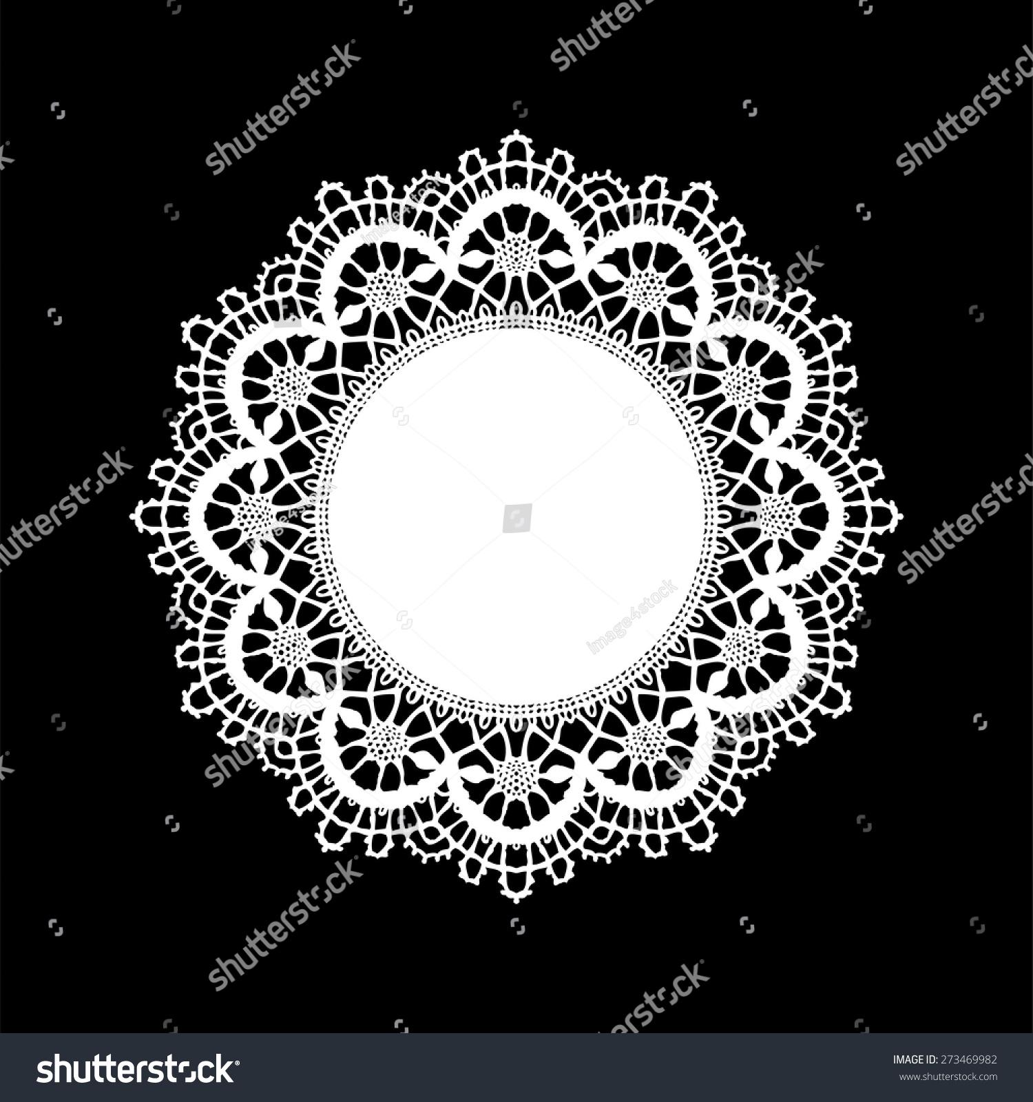 Doily Ornament Stencil Round Pattern Cut Stock Vector