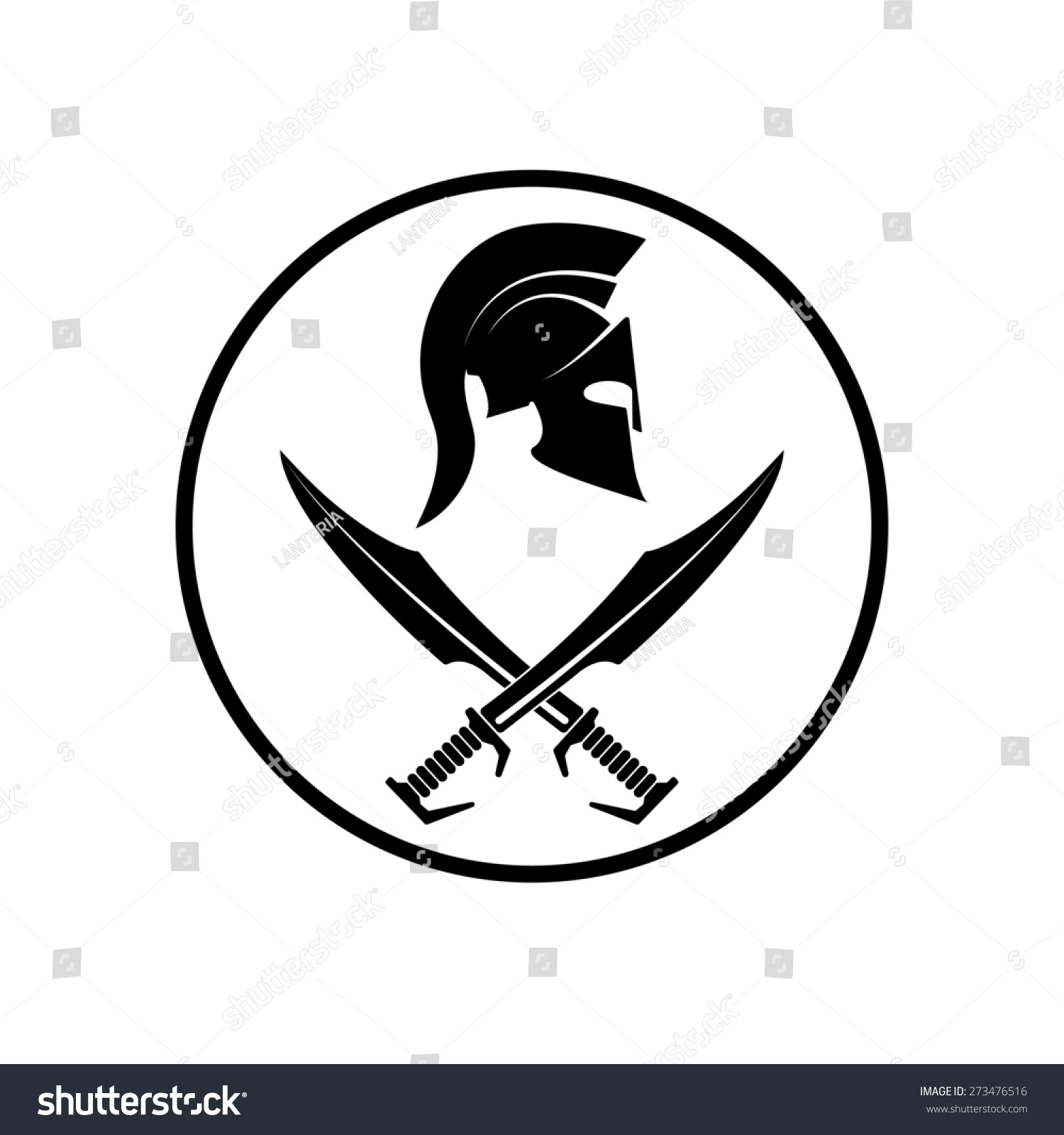 spartan helmet icon symbol of a warrior stock photo