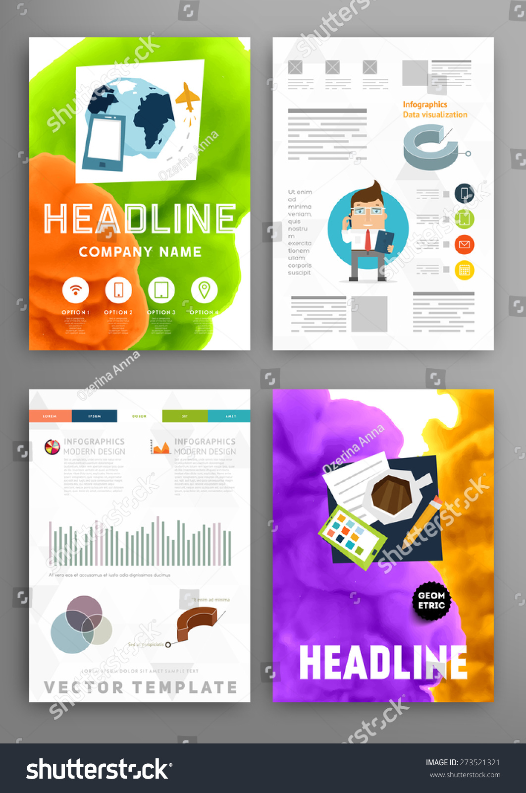 Set vector poster templates fluid paint stock vector 273521321 set of vector poster templates with fluid paint splash abstract background for business documents friedricerecipe Choice Image