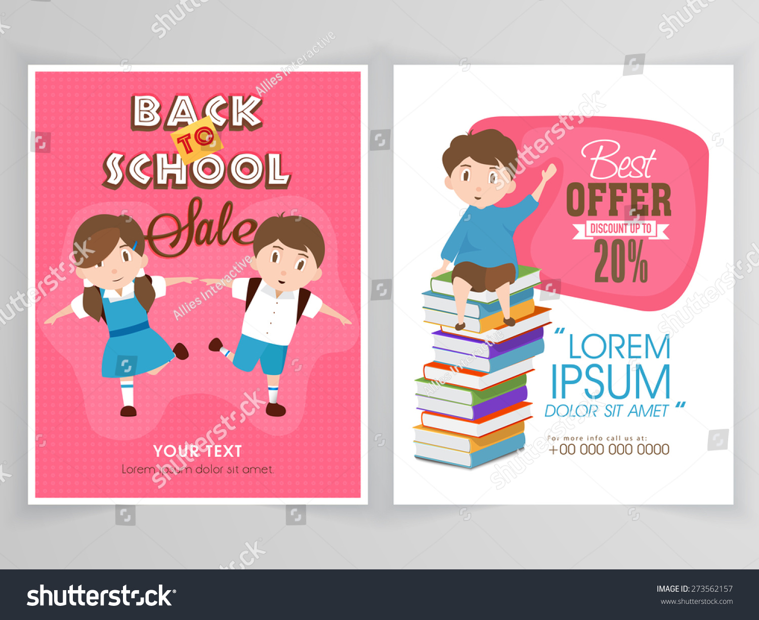 flyer template banner design back stock vector 273562157 flyer template or banner design for back to school discount offer on educational