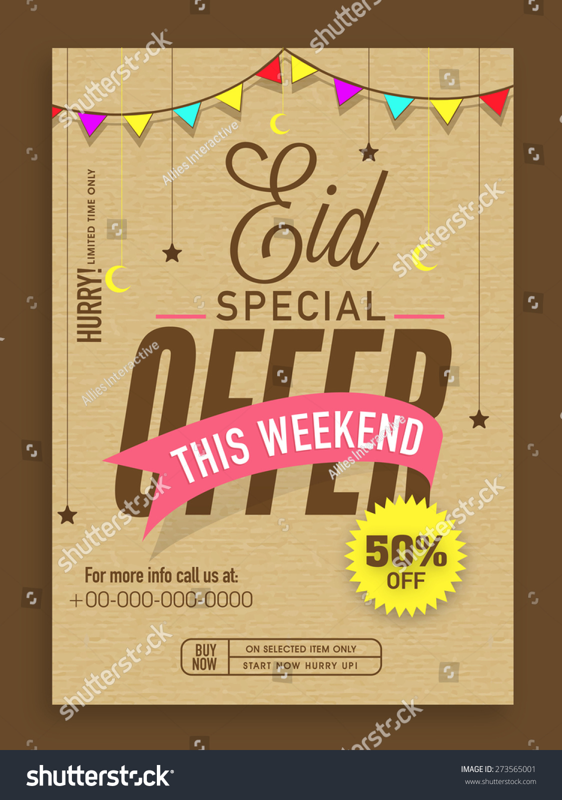 eid special offer template banner flyer stock vector  eid special offer template banner or flyer design decorated colorful bunting moons