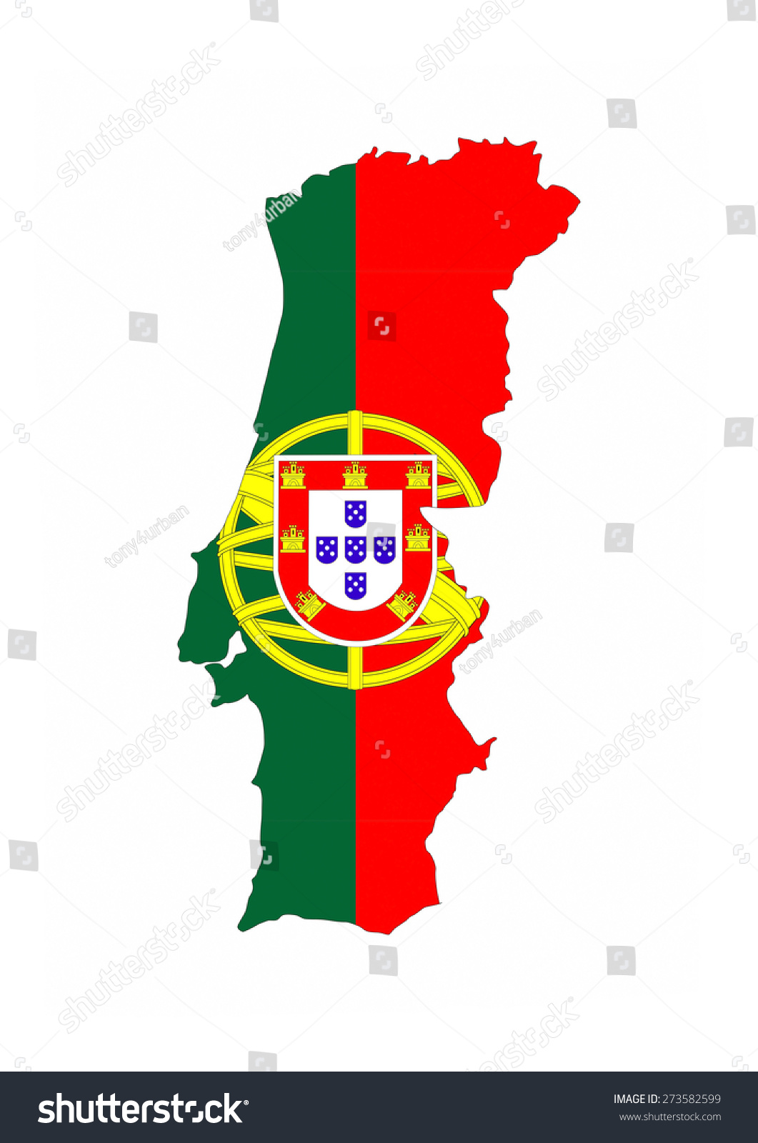 Royalty Free Stock Illustration Of Portugal Country Flag Map Shape