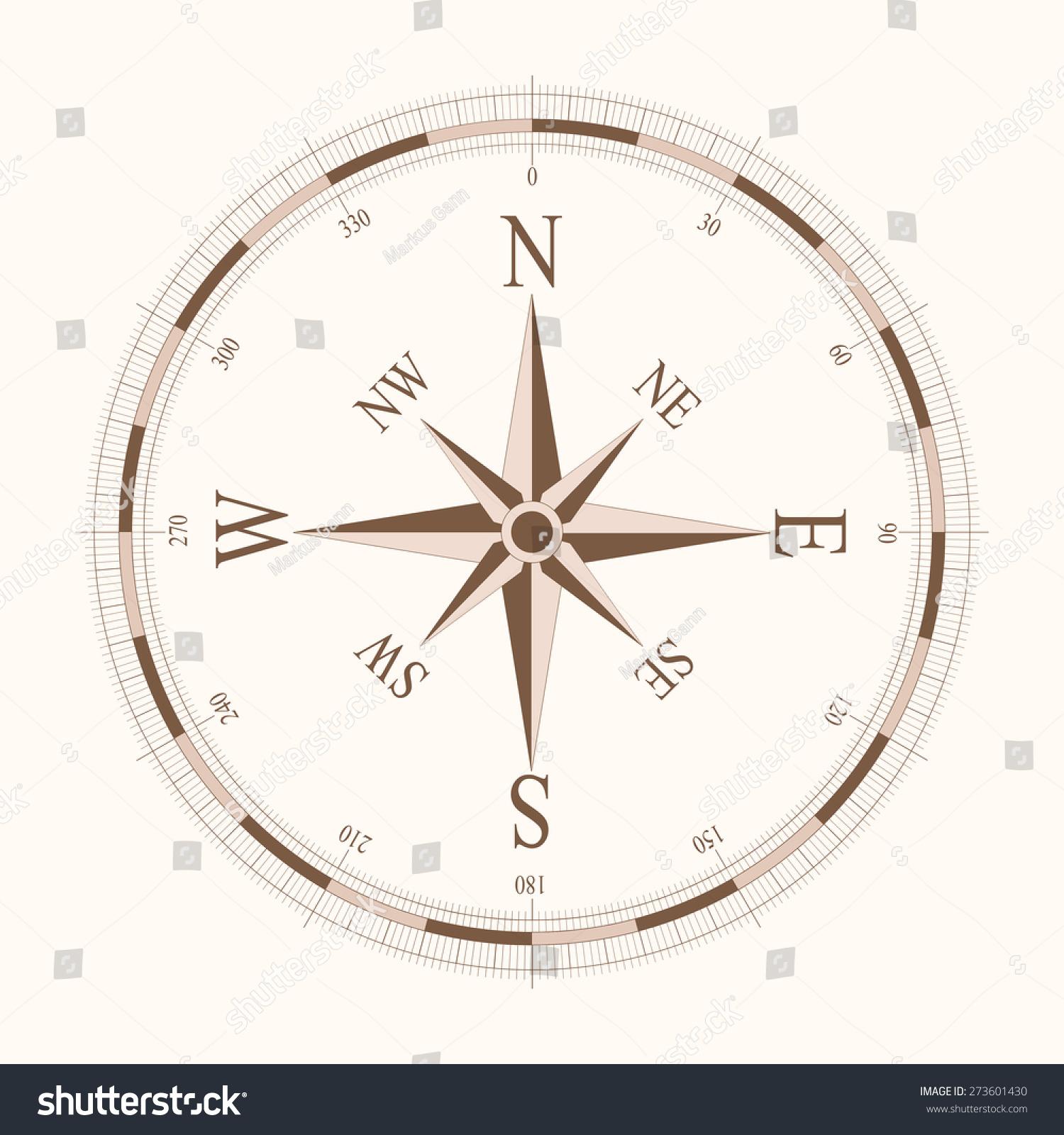 Compass App Icon Vector Illustration Ez Canvas 360 Degree Diagram