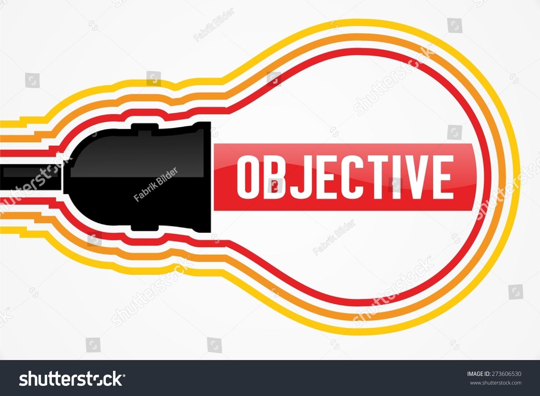 objective word lightbulb concept stock illustration 273606530