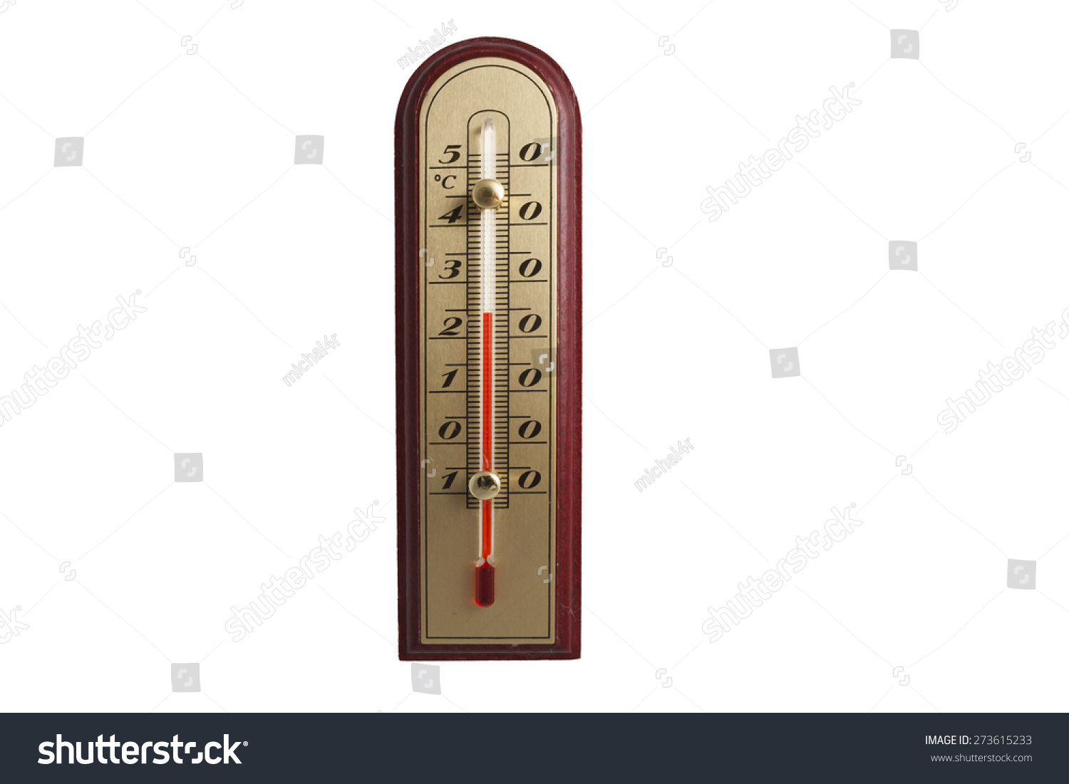 old style thermometer isolated on white stock photo. Black Bedroom Furniture Sets. Home Design Ideas