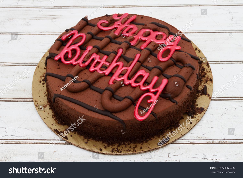 Happy Birthday Cake Chocolate Happy Birthday Stock Photo Royalty