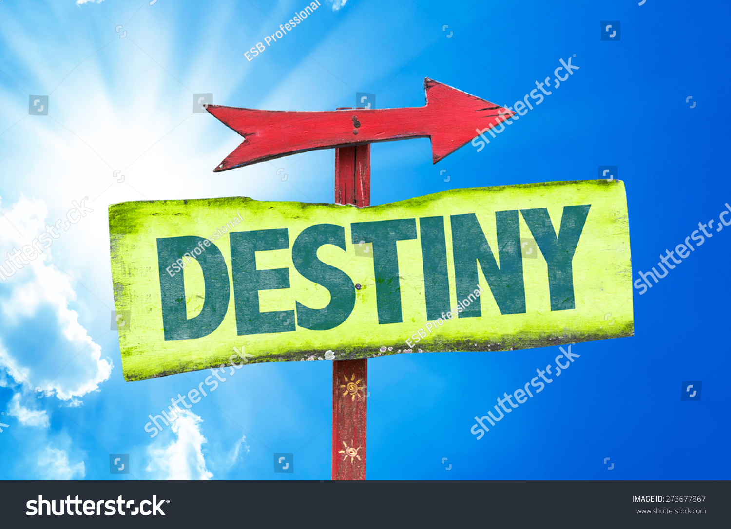 Destiny sign with sky background 273677867 shutterstock for The apartment design your destiny episode 1