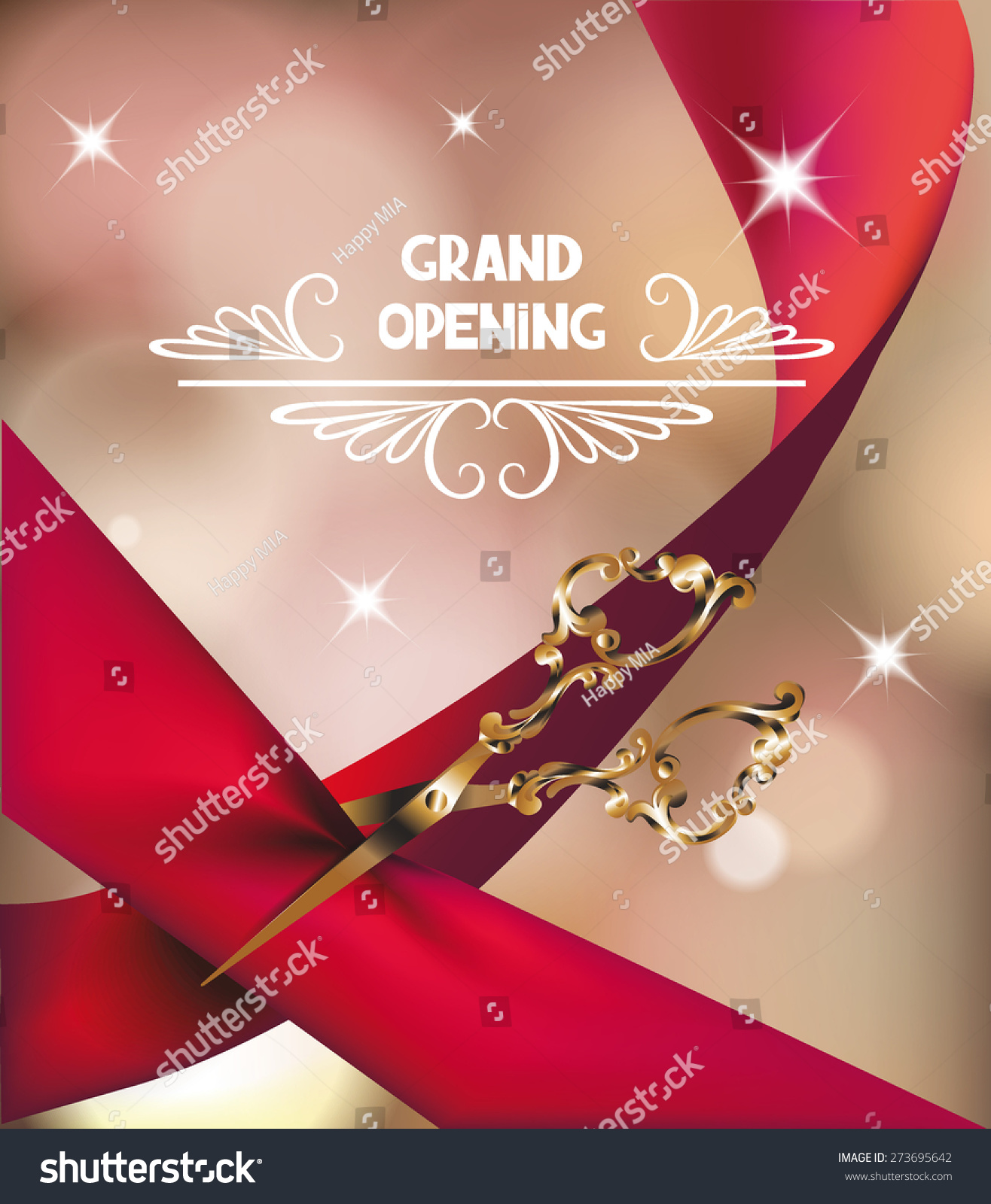 Grand Opening Invitation Card Silk Red Vector 273695642 – Grand Opening Invitation Cards