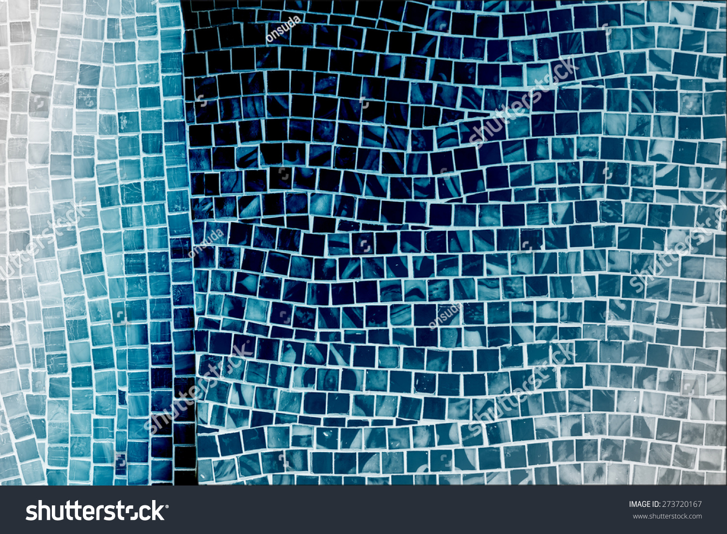 Rough Blue Mosaic Tile Wall Bathroom Stock Photo (Download Now ...