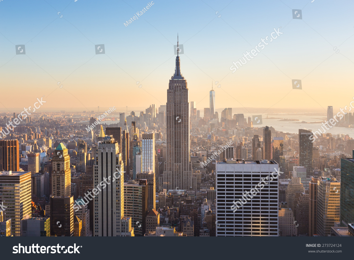 new york city manhattan downtown skyline stock photo. Black Bedroom Furniture Sets. Home Design Ideas