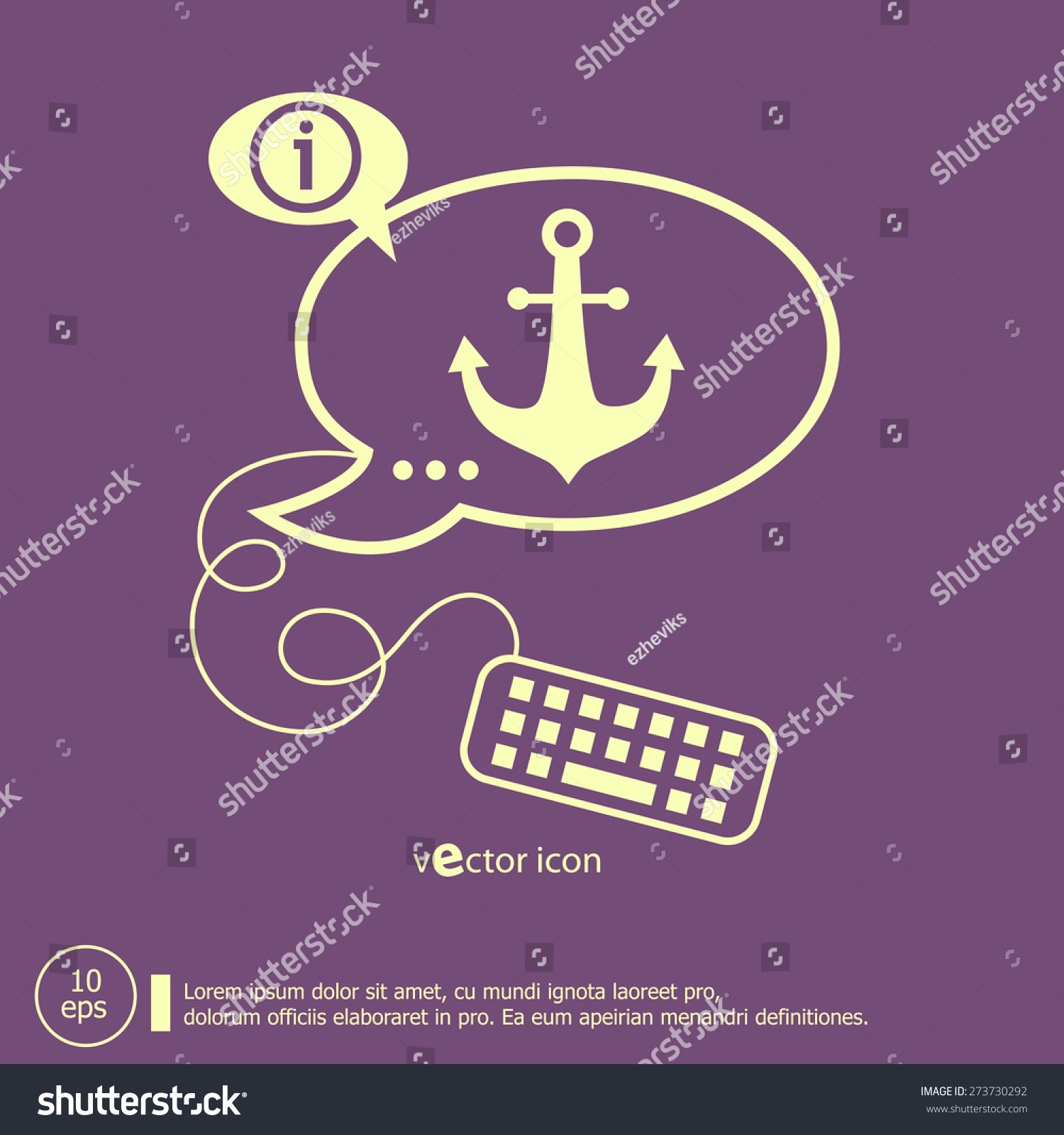 Anchor icon keyboard design elements line stock vector 273730292 anchor icon and keyboard design elements line icons for application development web page coding biocorpaavc