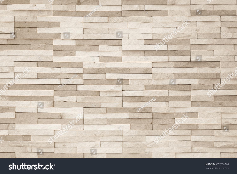 Light Brown Beige Brick Tile Wall Stock Foto 273734990