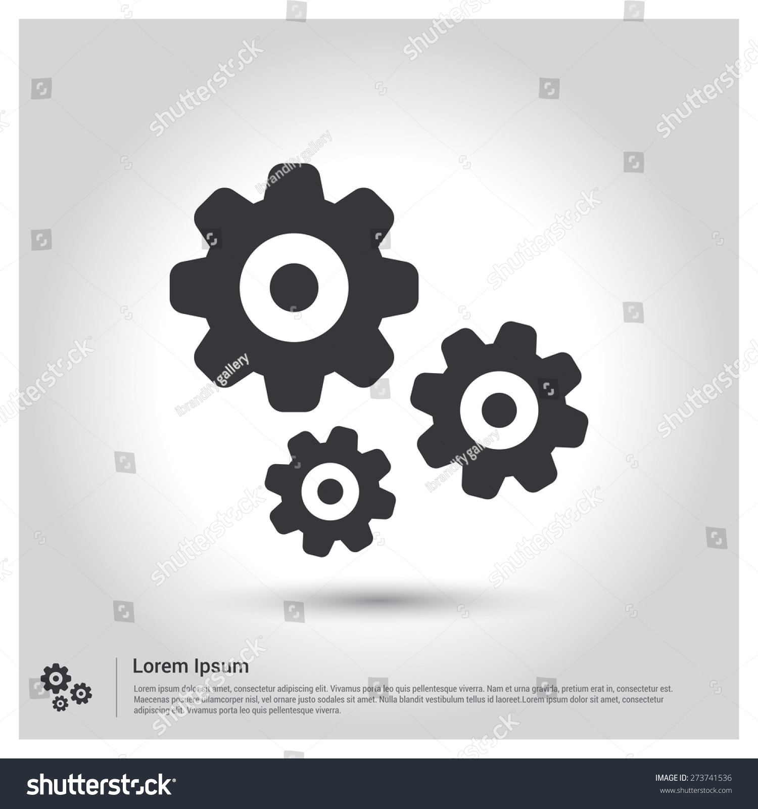 Setting cog wheel gear icon pictogram stock vector 273741536 setting cog wheel gear icon pictogram icon on gray background vector illustration for web voltagebd Choice Image