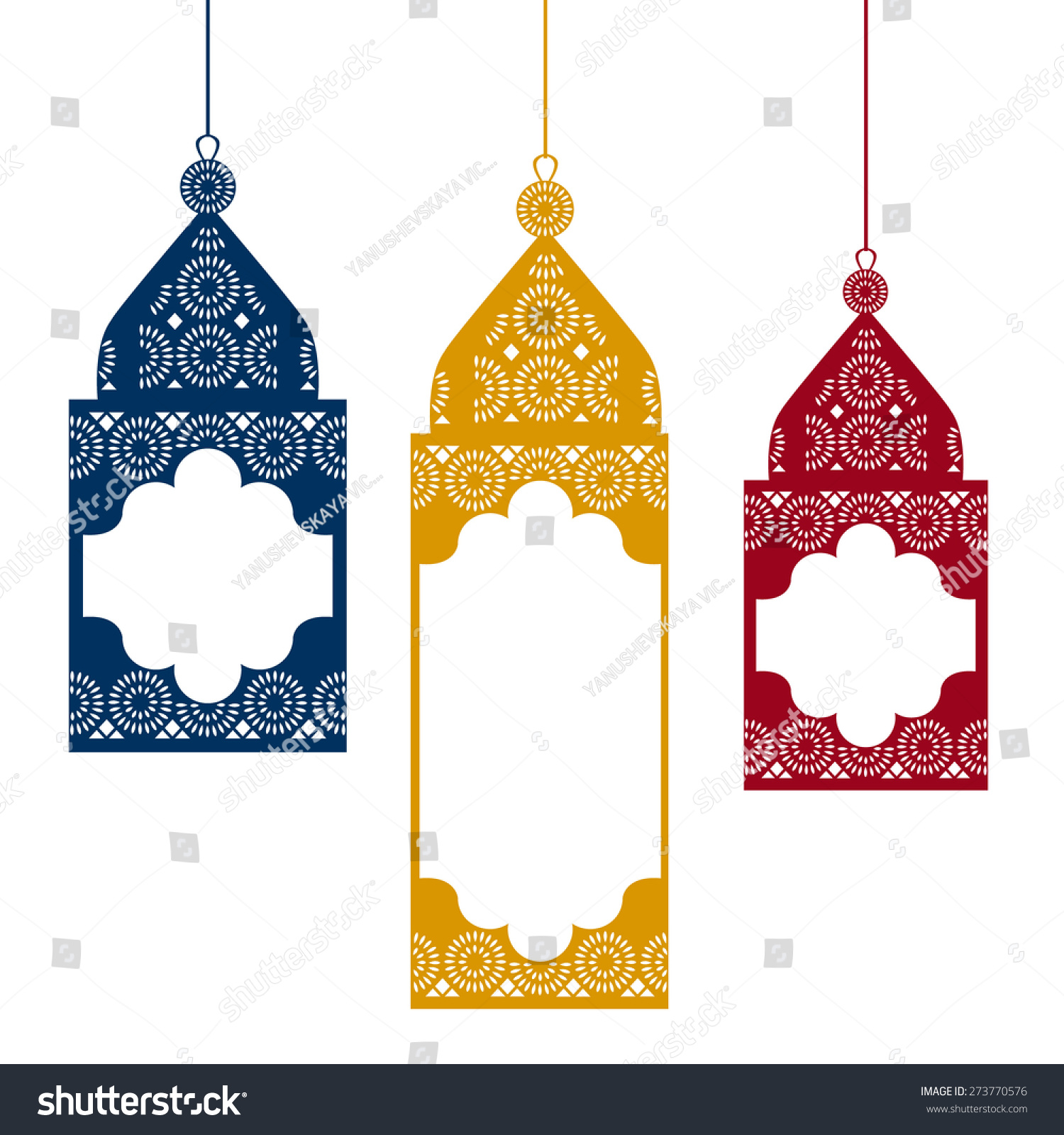 Colored Hanging Traditional Arabic Lamps Vector Stock Vector ... for Traditional Arabic Lamp  70ref