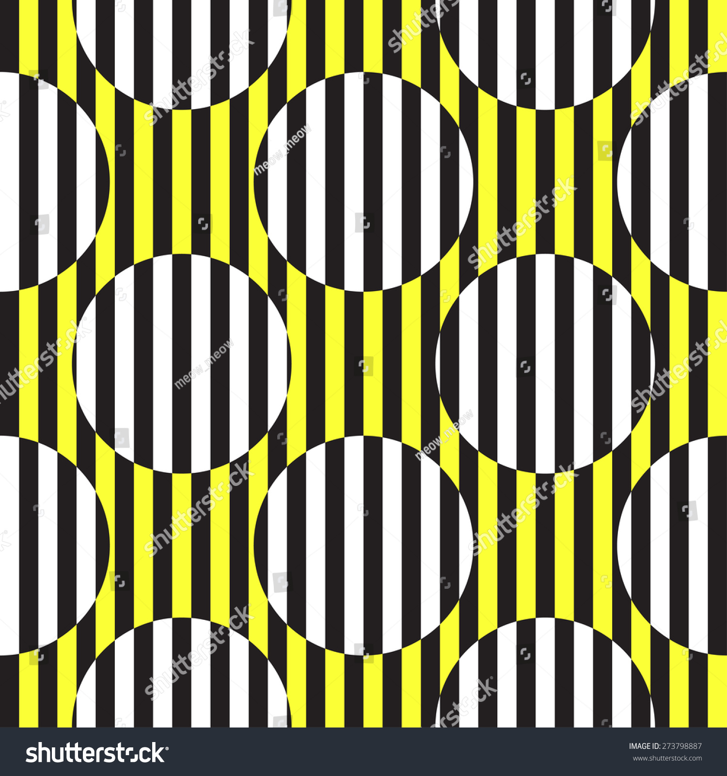 Op Art Abstract Black White Yellow Stock Vector (Royalty Free ...