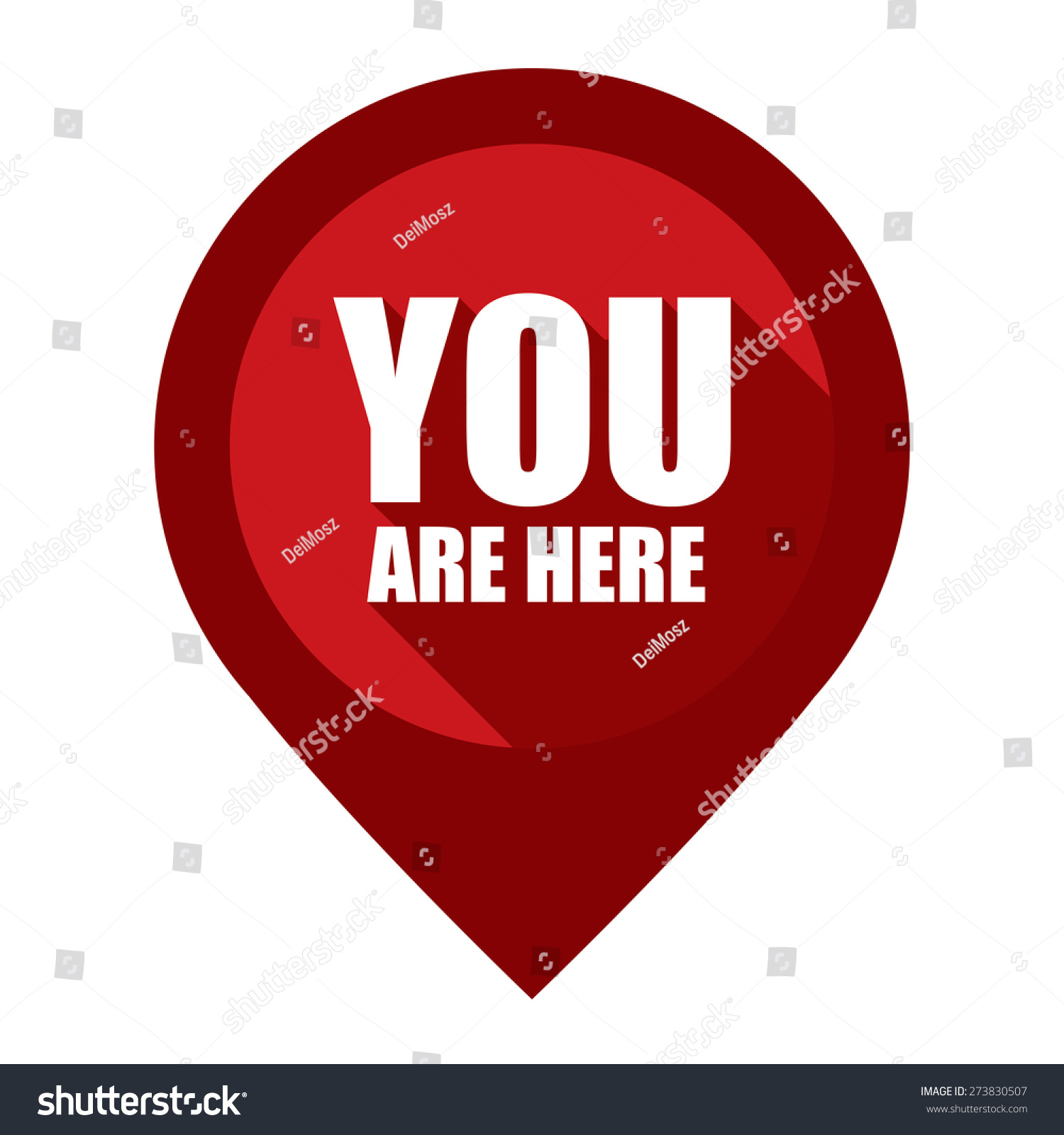 Red You Here Map Pointer Icon Stock Illustration 273830507