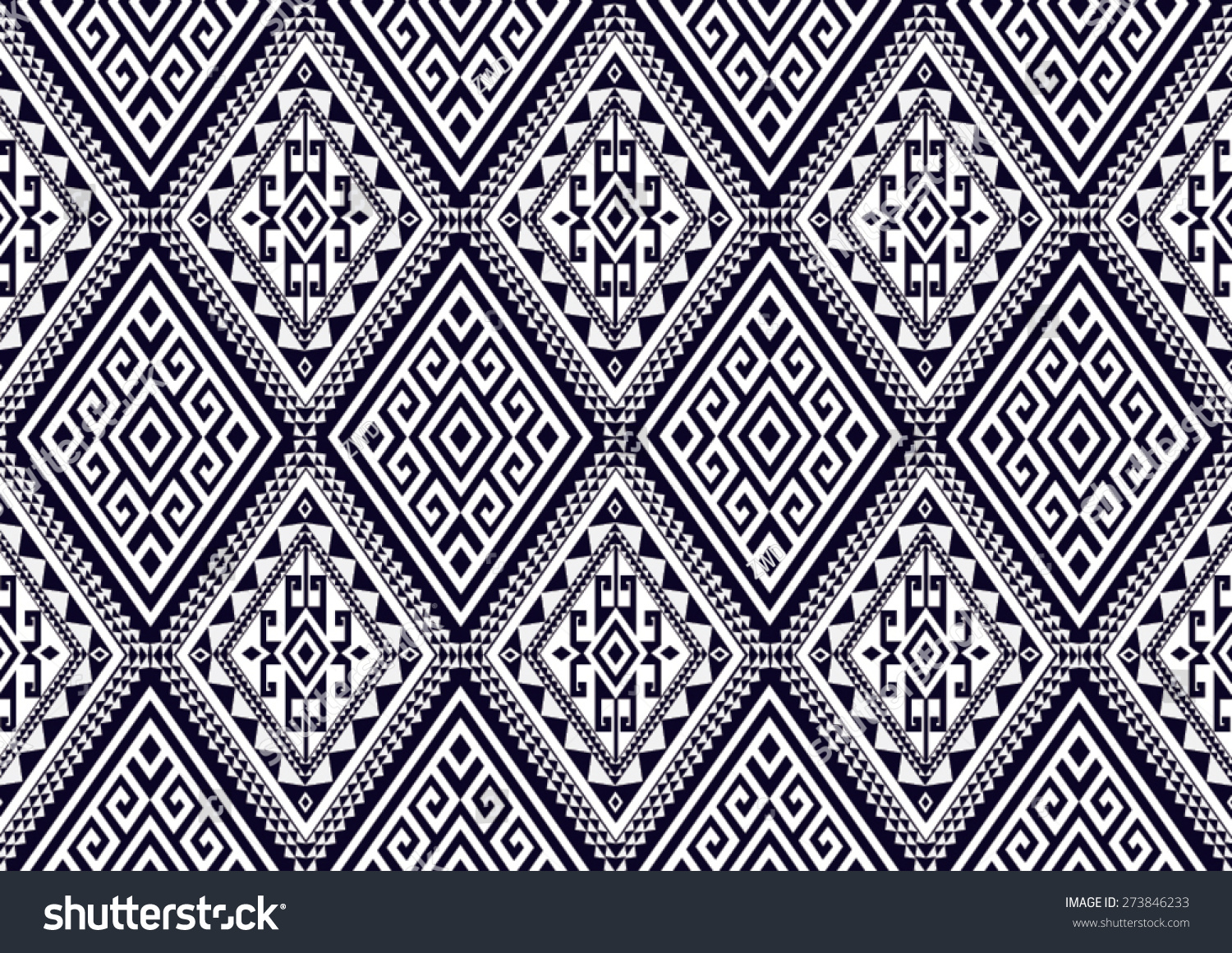 Abstract ethnic geometric pattern design for background or wallpaper
