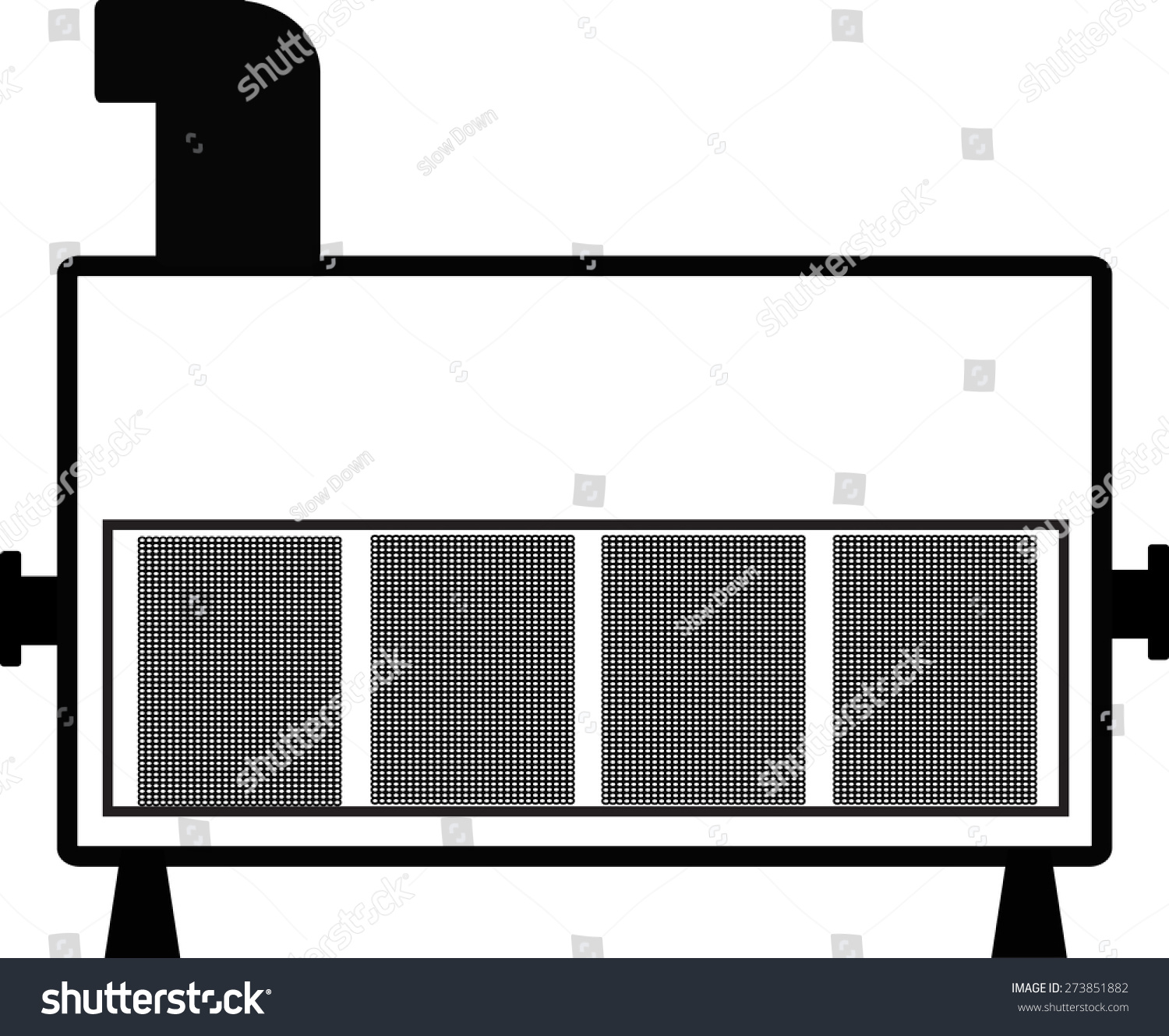 Chiller   Ahu Stock Vector Illustration 273851882