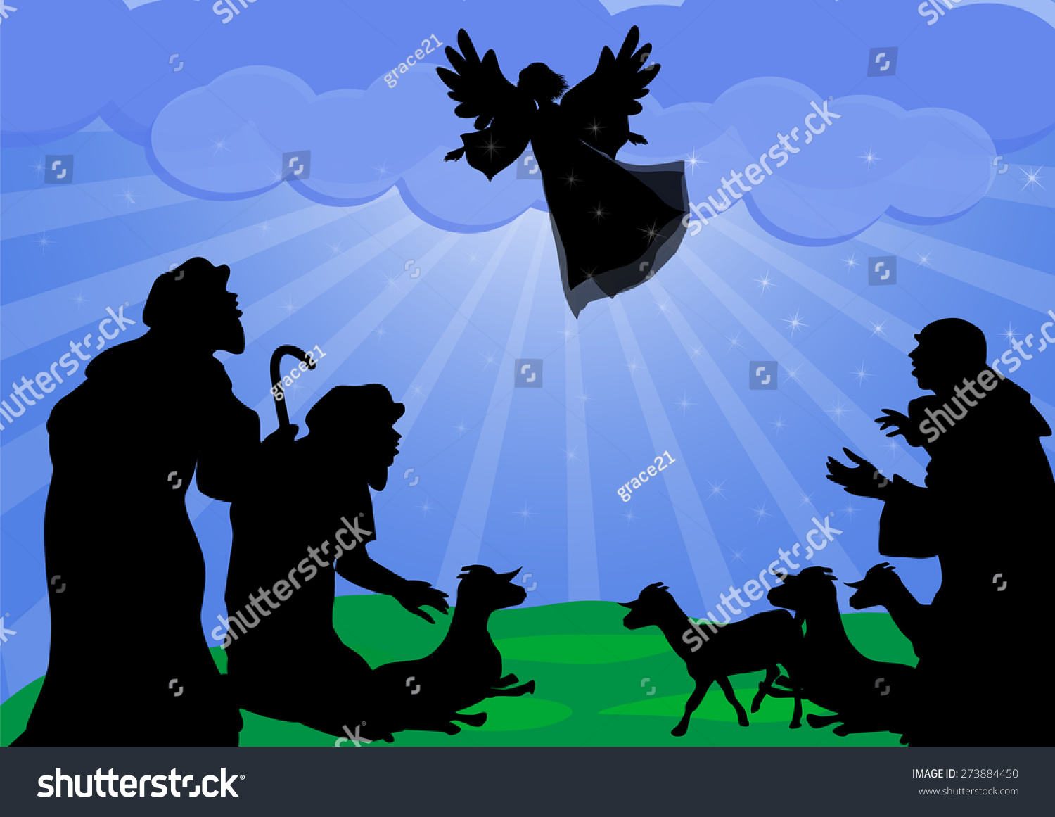 Shepherds Angel Silhouetteangel Announced Shepherds Birth – Who Announced the Birth of Jesus