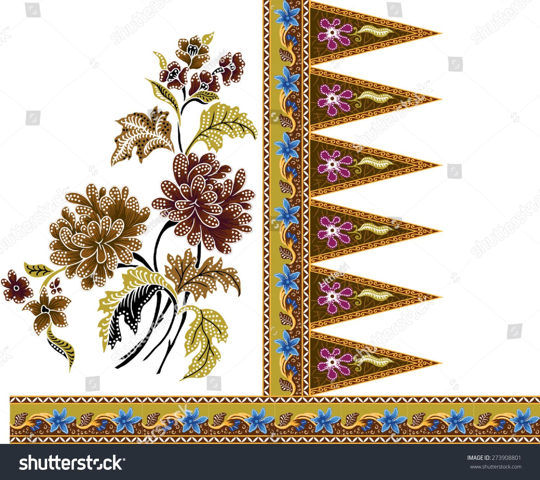 Batik Pattern.Beautiful Art Background Design Fabric