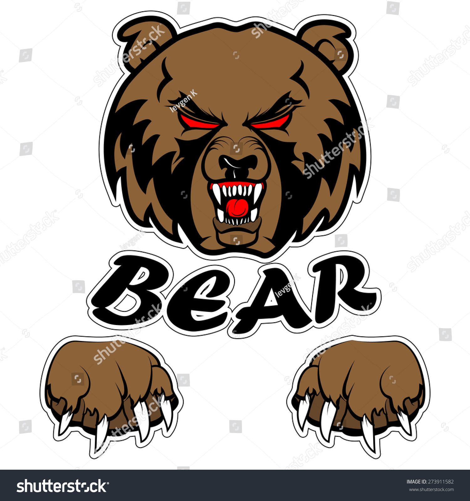 Graphic Mascot Vector Image Bear Logos Stock Vector 273911582 ...