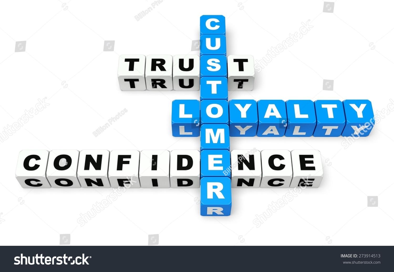 3 D Trust Customer Loyalty Stock Illustration 273914513 Shutterstock