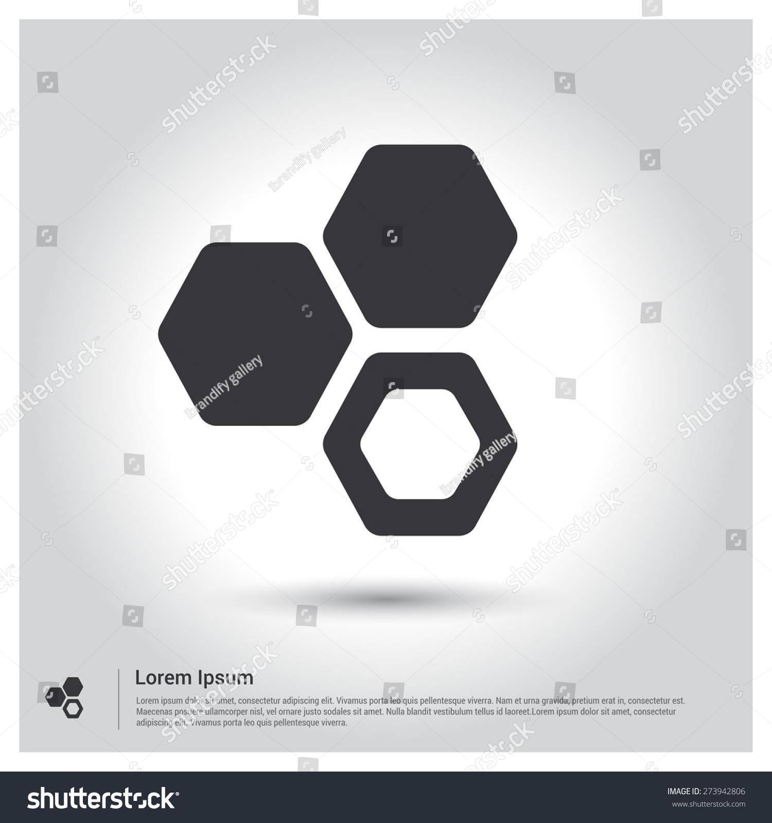Honey bee icon hexagon connectivity logo stock vector 273942806 hexagon connectivity logo pictograph icon on gray background vector illustration voltagebd Choice Image
