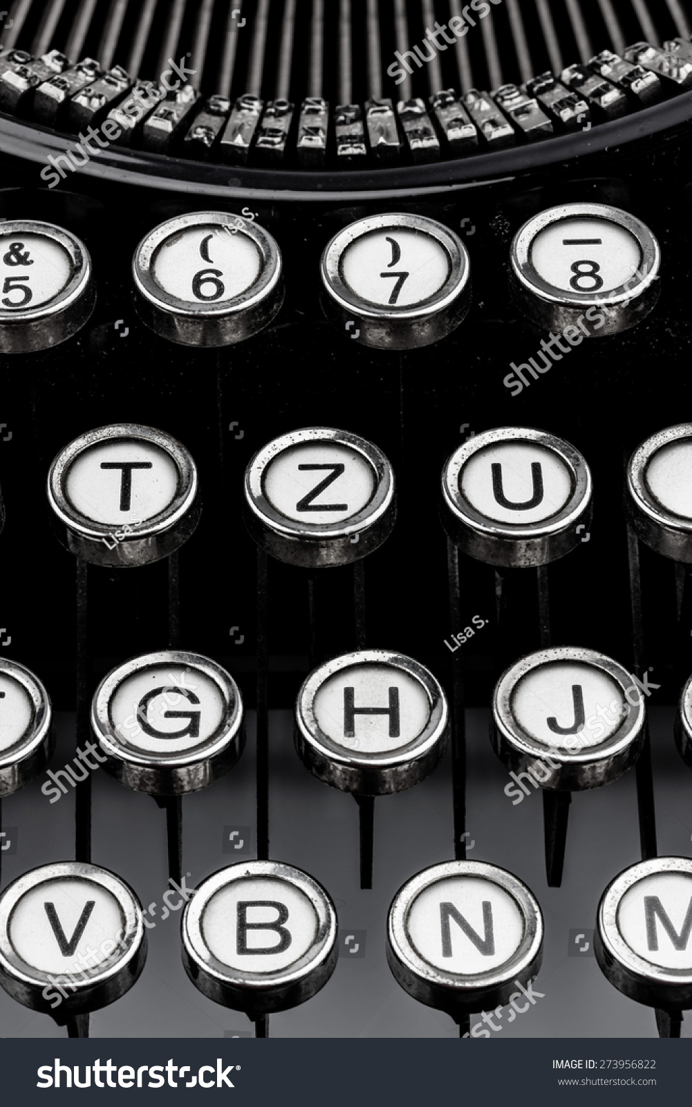 An Old Typewriter Keyboard Symbolic Photo For Communication In